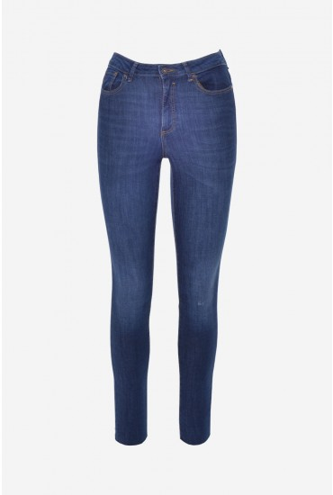 5d6bdb717e Vero Moda Sophia Short High Rise Skinny Jeans in Dark Wash Denim ...