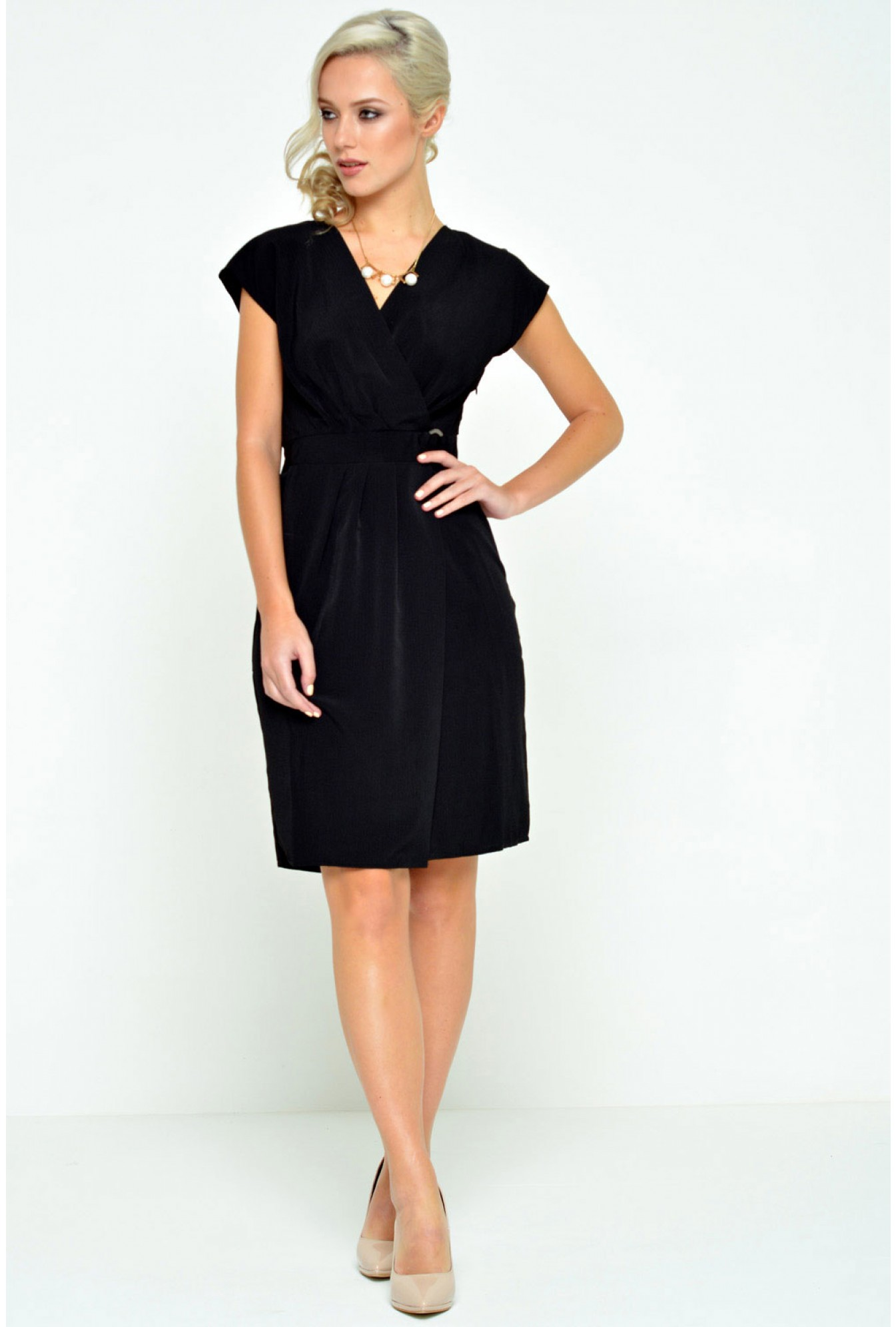 f3394d30f082e More Views. Moline S/S Dress in Black. Vero Moda