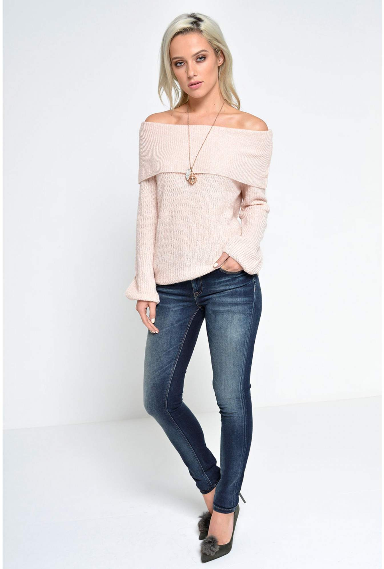 de4bcc42b475 Vero Moda Ida LS Off Shoulder Blouse in Dusty Pink