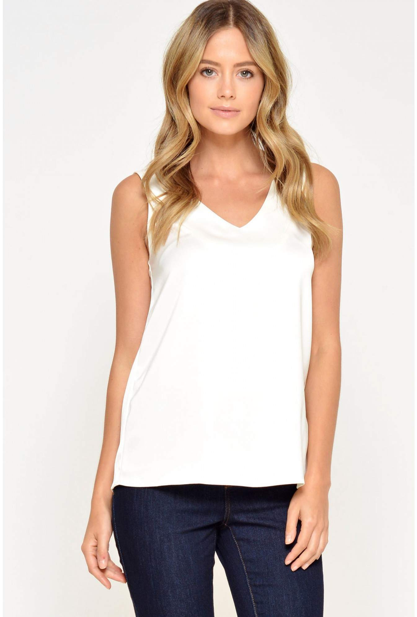 0865ed8d6af80c More Views. Rana S L Top in White