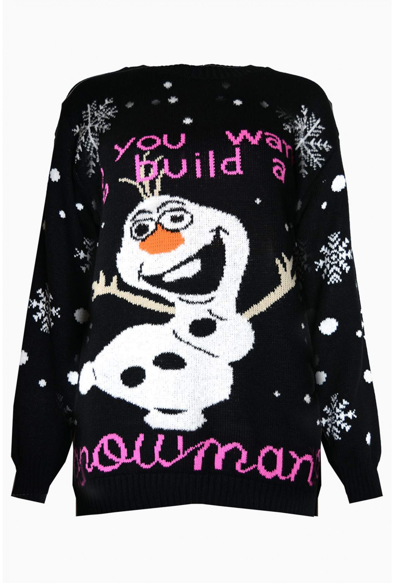 USCO Olaf Christmas Jumper in Black | iCLOTHING