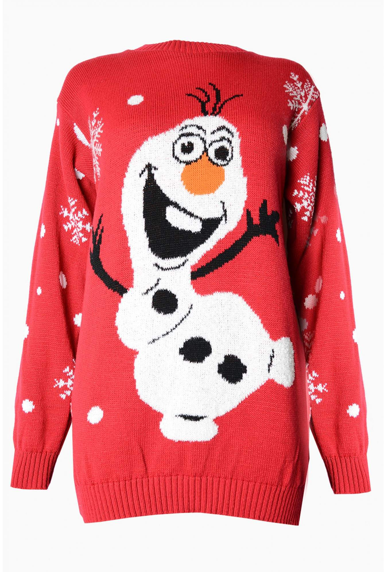 USCO Olaf Christmas Jumper in Red | iCLOTHING