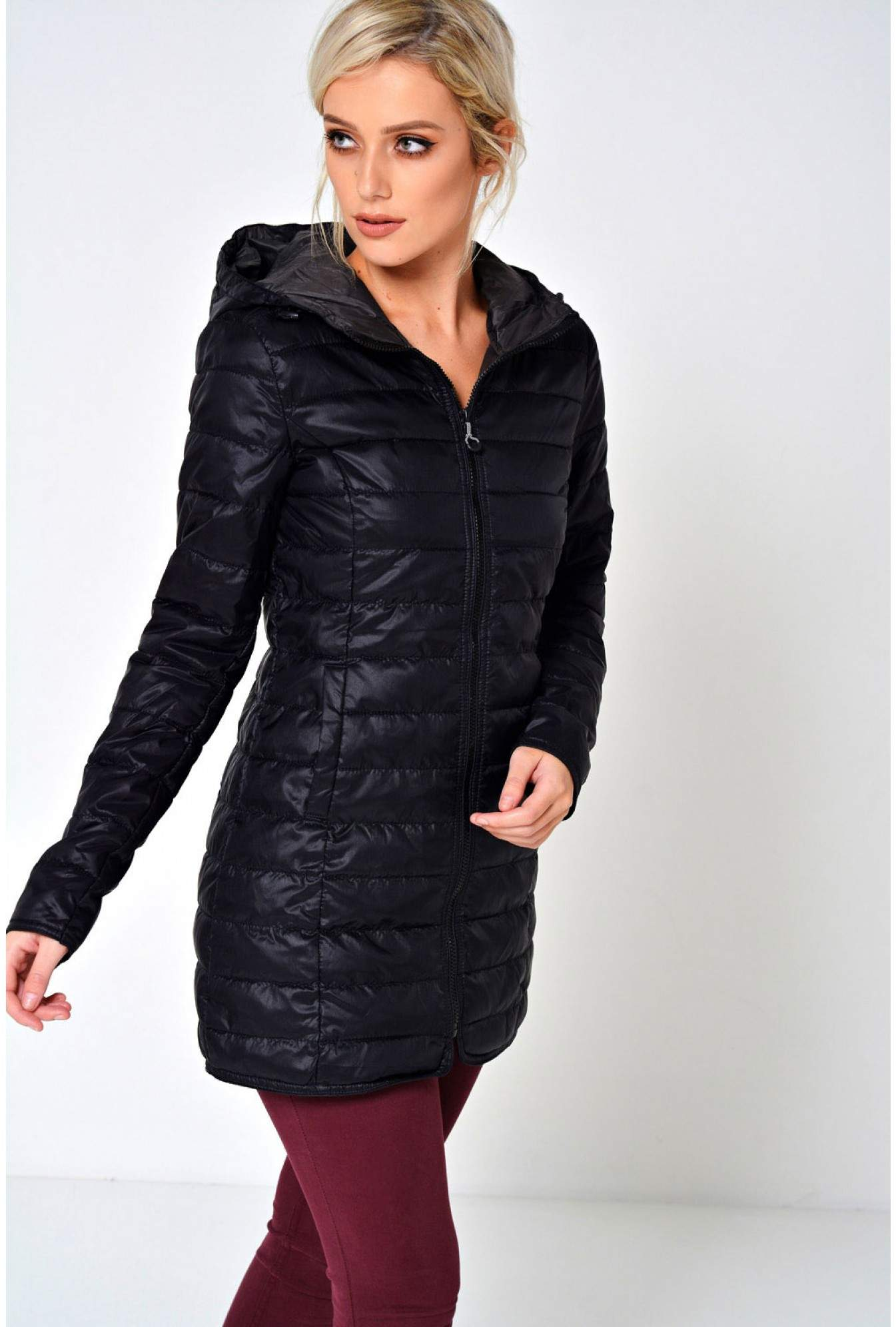 0aa59512cb649f More Views. Tahoe Long Quilted Jacket in Black. Only