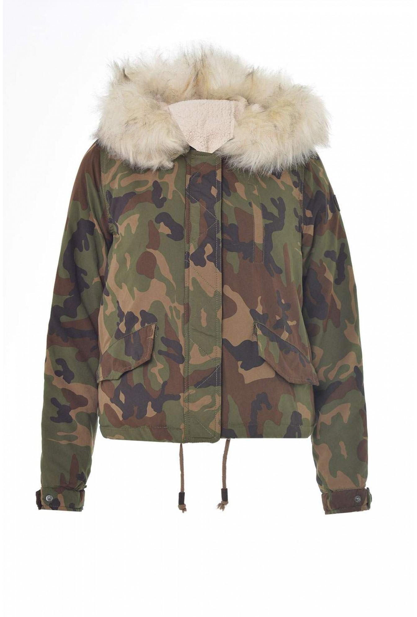8959bb3bf0234 Only Skylar Short Fur Camo Parka | iCLOTHING