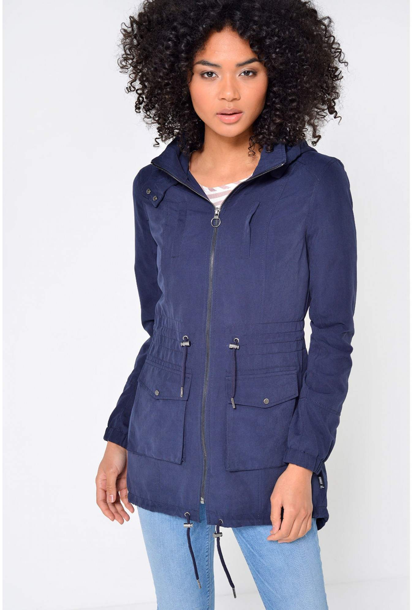 0f53e6ee9f7c More Views. Starry Longline Parka Jacket in Navy. Only