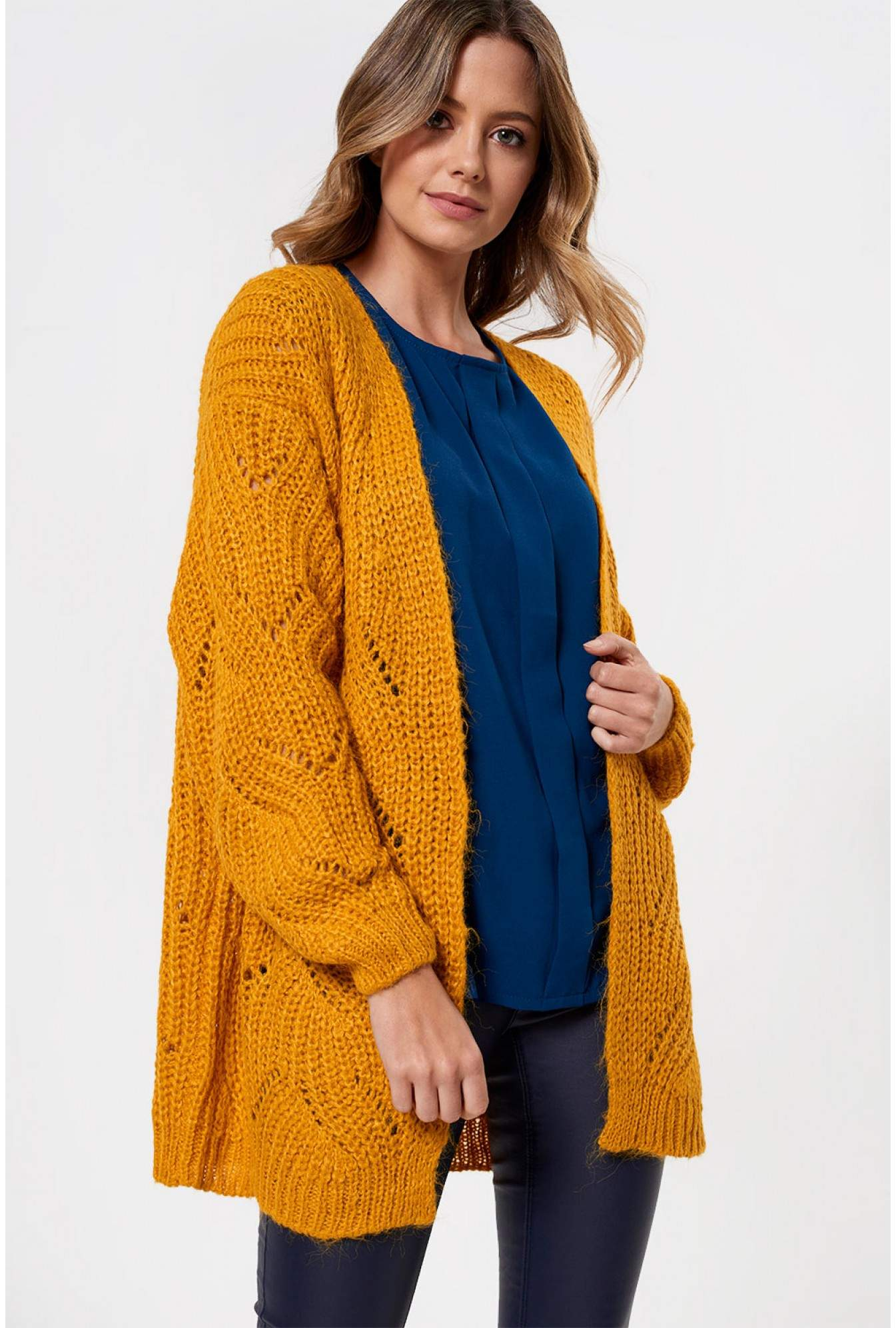 dcc9aa3ecb39 Only Havana Knitted Cardigan in Mustard | iCLOTHING