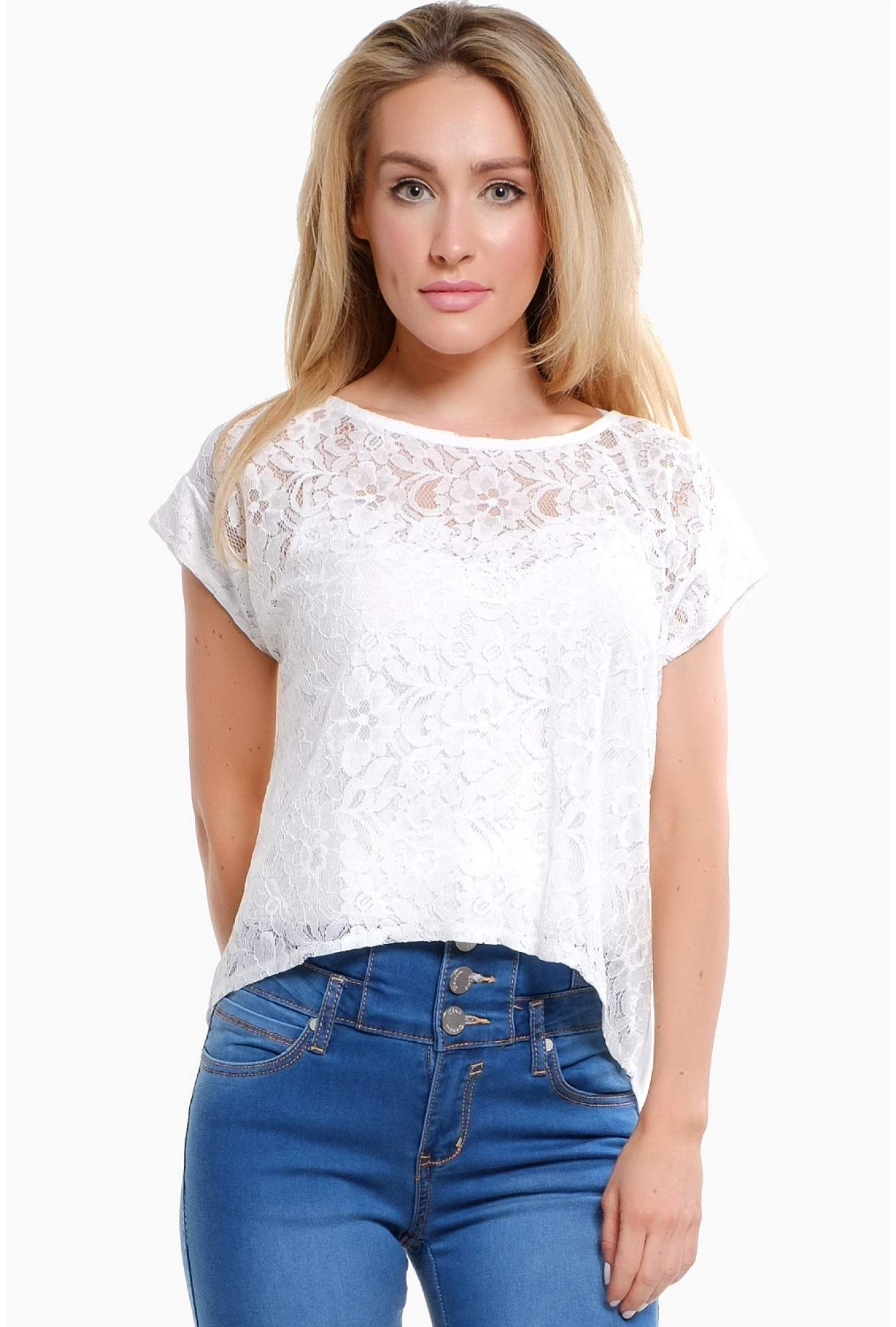 99c9048ab5b More Views. Carla Lace Zip Back Top in White
