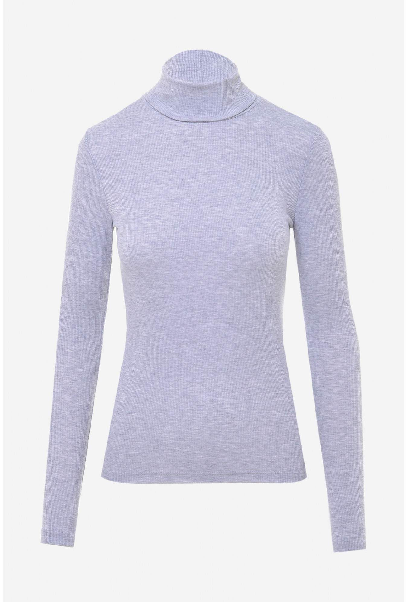 140ea49bbcd047 More Views. Ganie Ribbed Roll Neck Top in Light Grey. Pieces