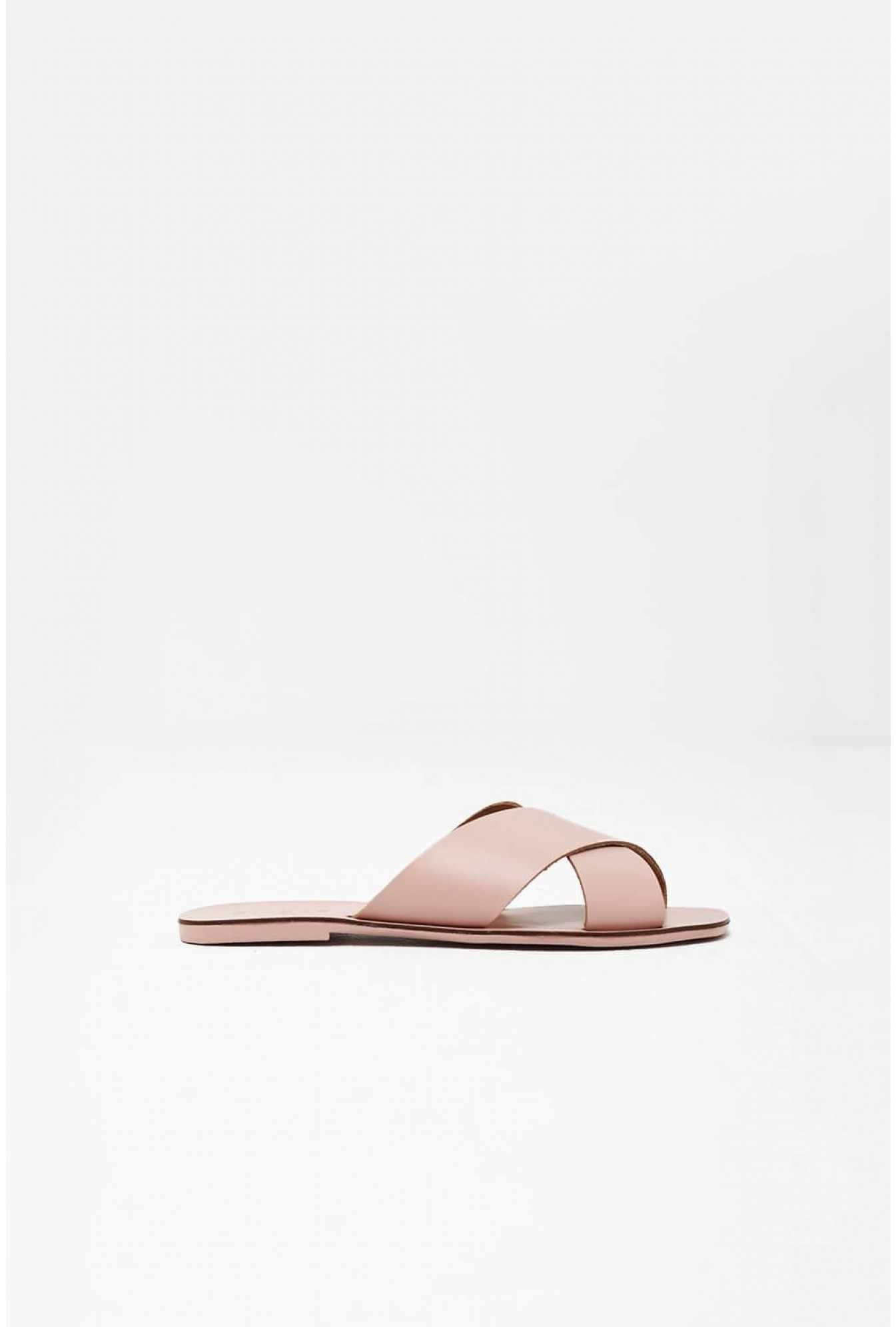 414533981900 More Views. CHARA Leather Sandal in Blush Pink