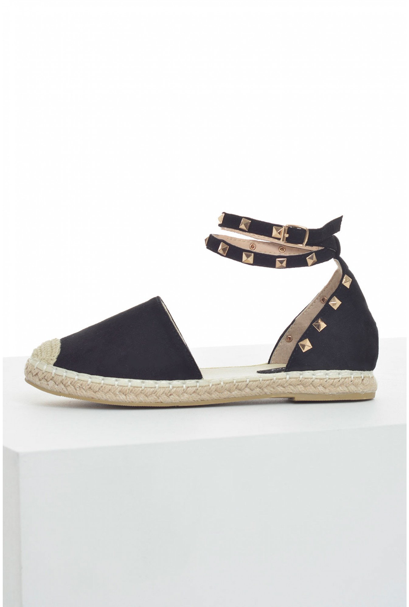 317970c83 No Doubt Parker Flat Espadrilles in Black Suede | iCLOTHING