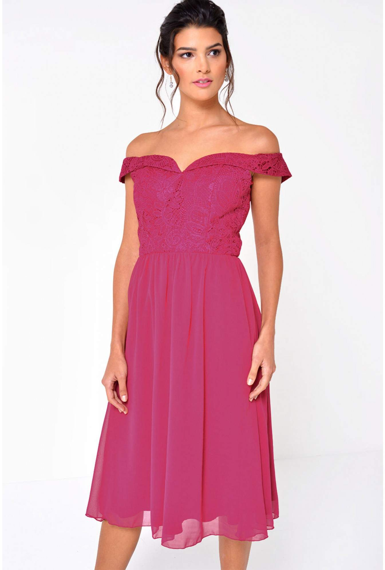 40f26d4e489c More Views. Mary-Kate Bardot Dress in Raspberry
