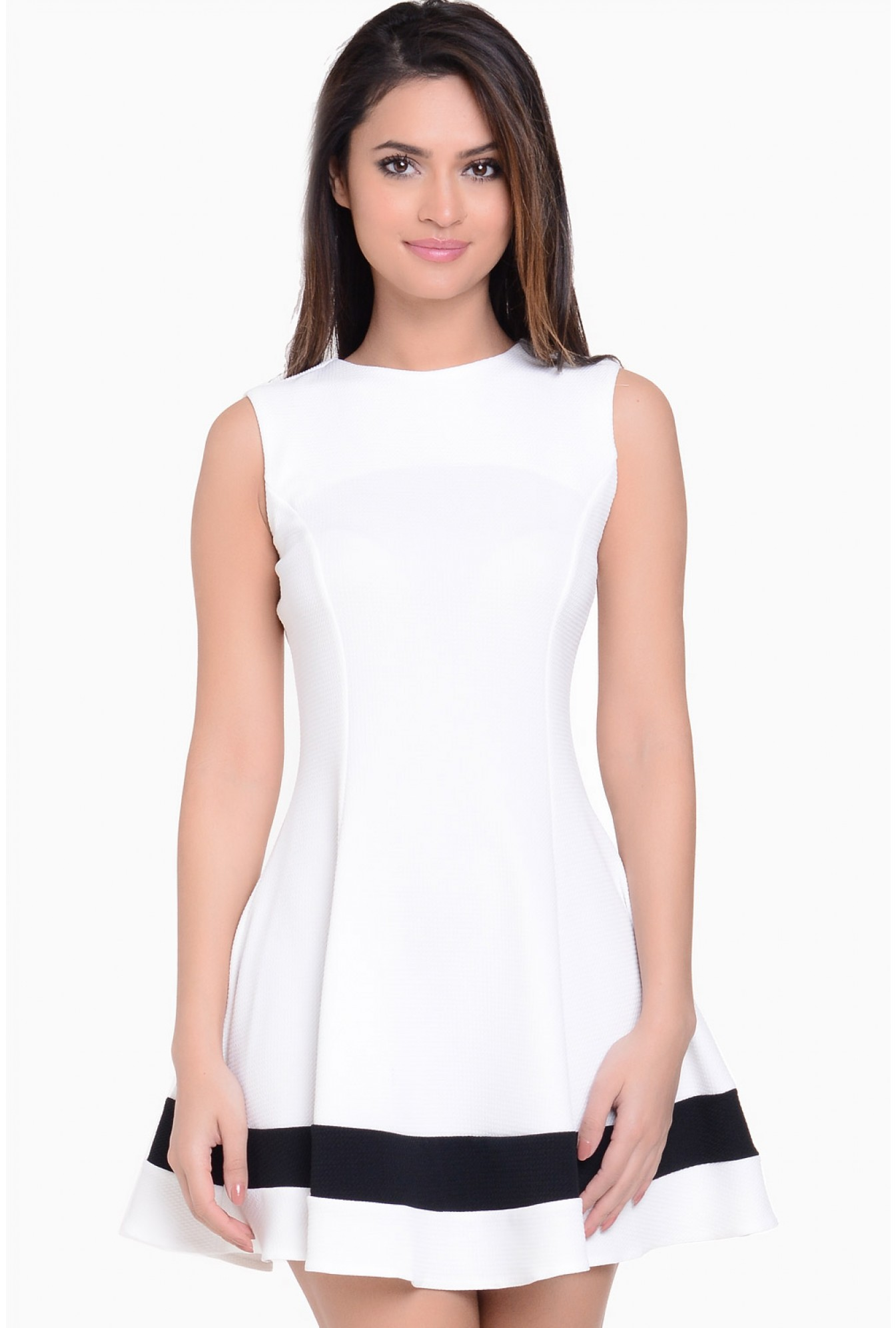 713818533cc7 More Views. Asley Skater Dress in White