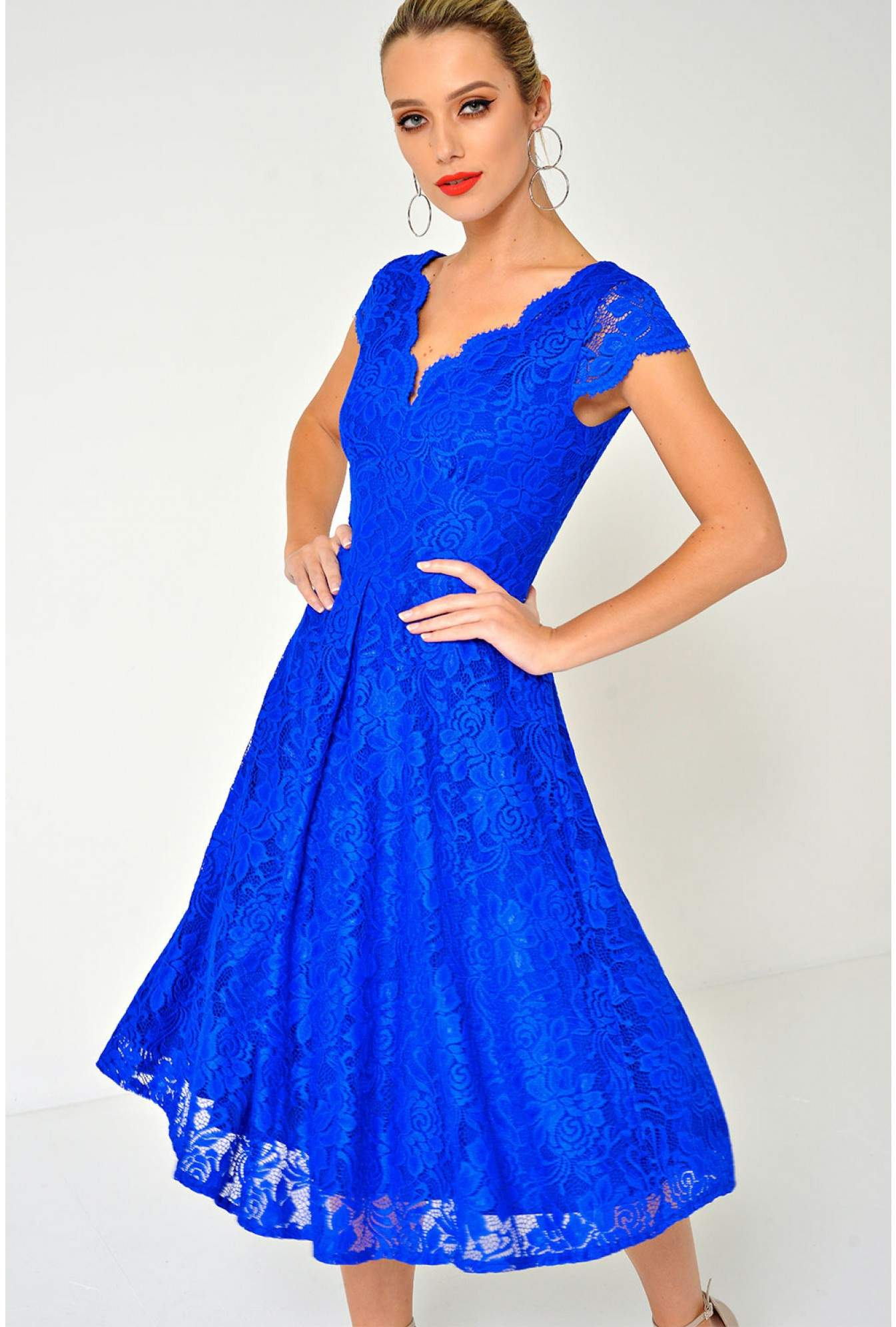 21faf4bcdc More Views. Judy Lace Dress in Electric Blue