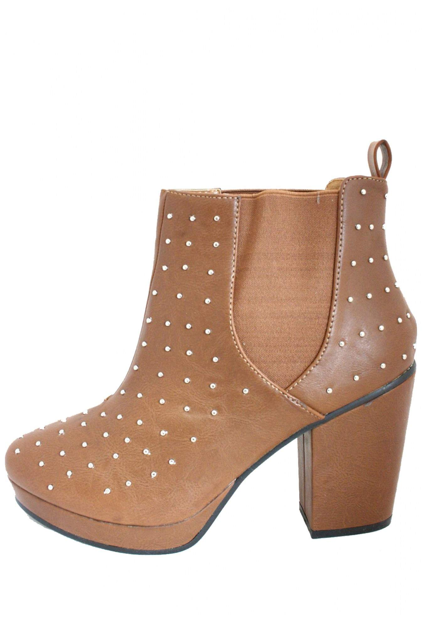 4046694dc5b Mandy Studded Chelsea Boot in Tan