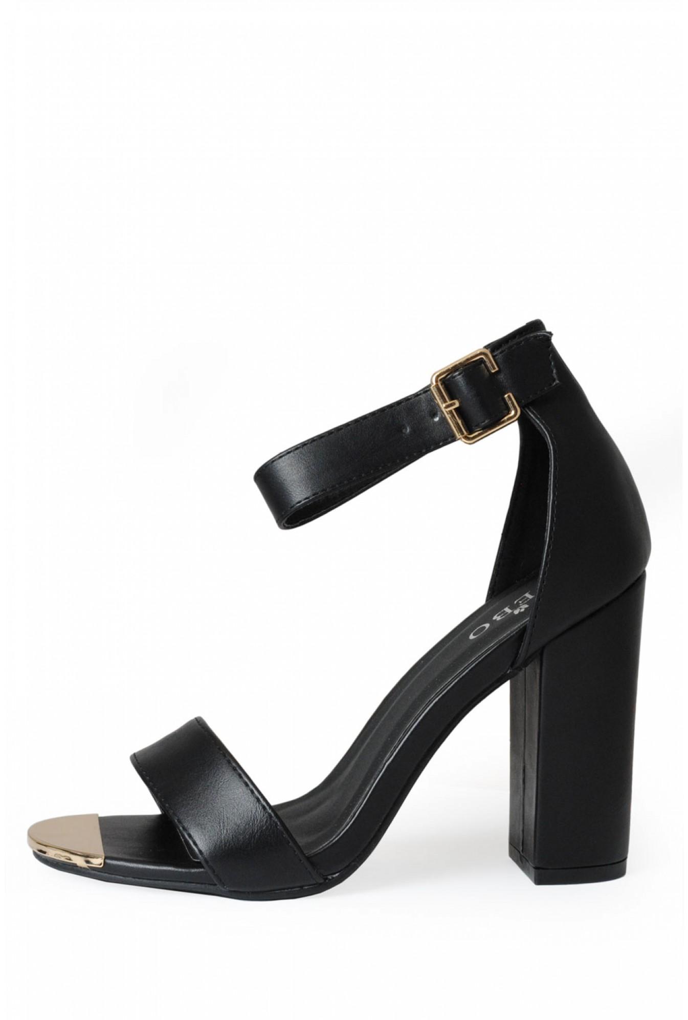 f4ebc8c423 Indigo Footwear Aliya Strappy Block Heel Sandals in Black | iCLOTHING
