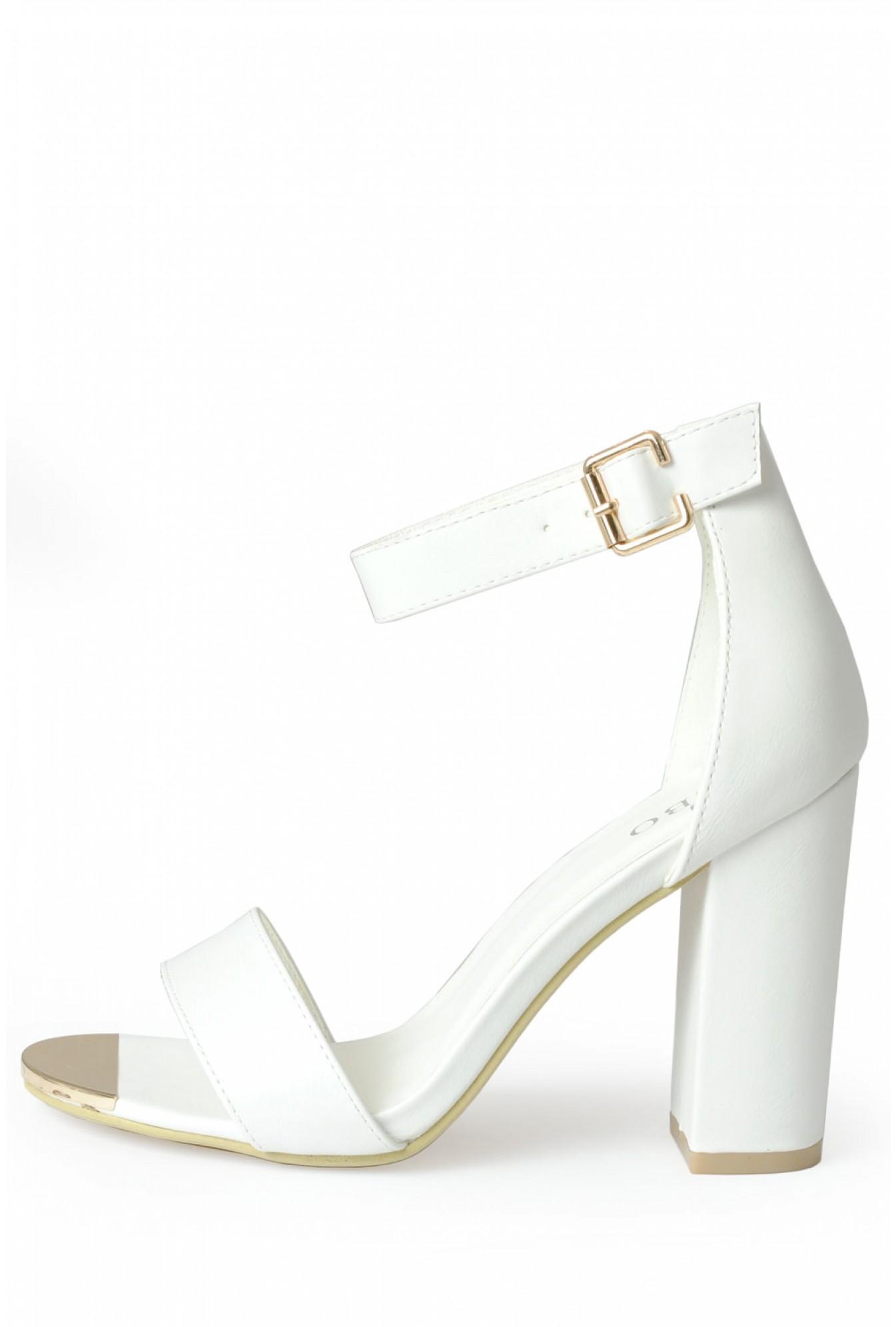 95da2f7e78a Indigo Footwear Aliya Strappy Block Heel Sandals in White