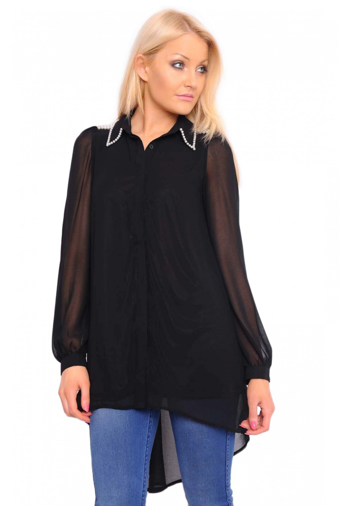 2f3ac294baa More Views. Dixie Embellished Shirt Tunic in Black