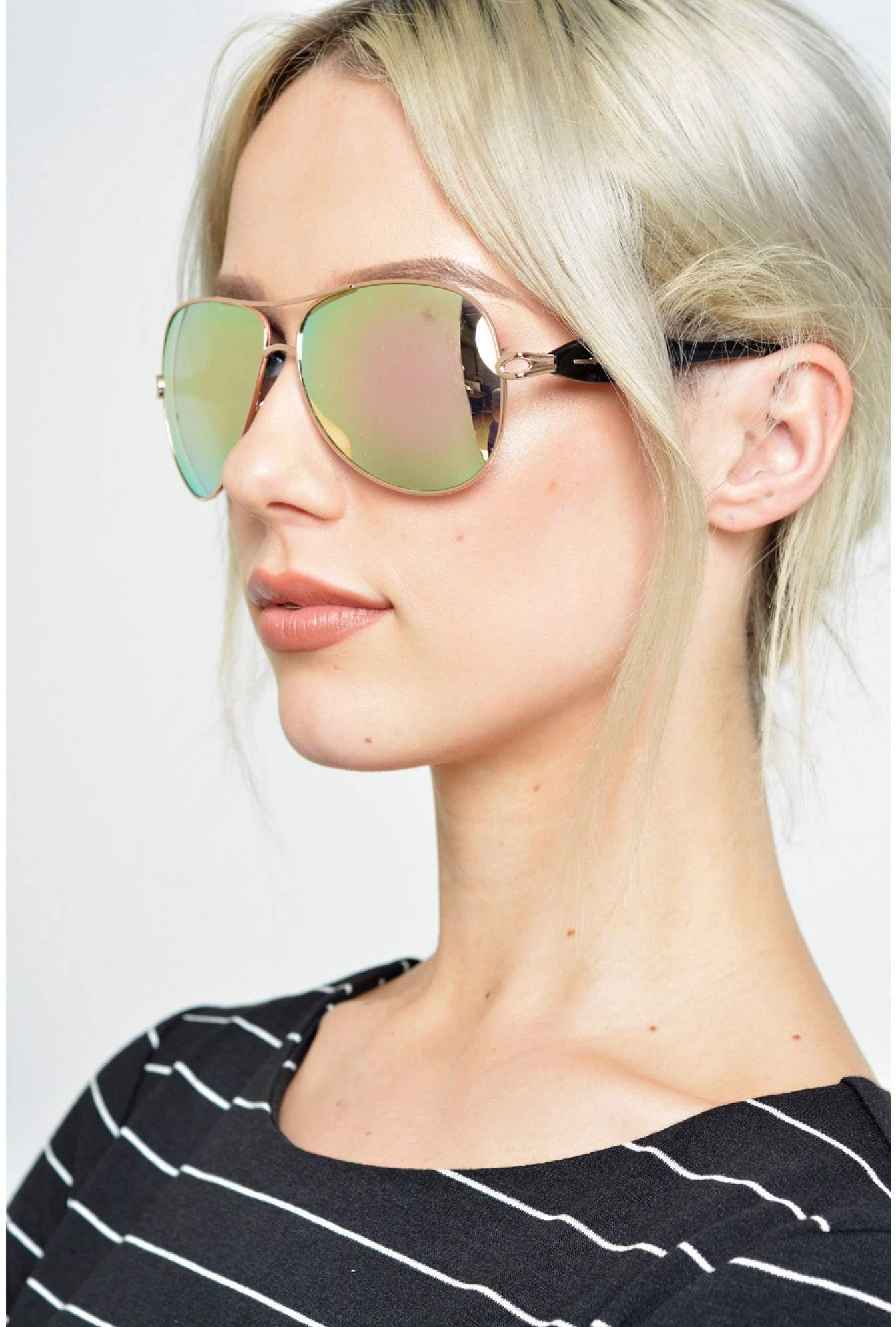 bfe076156 More Views. Ibiza Rose Gold Aviator Sunglasses in Rose Mirrored Lens