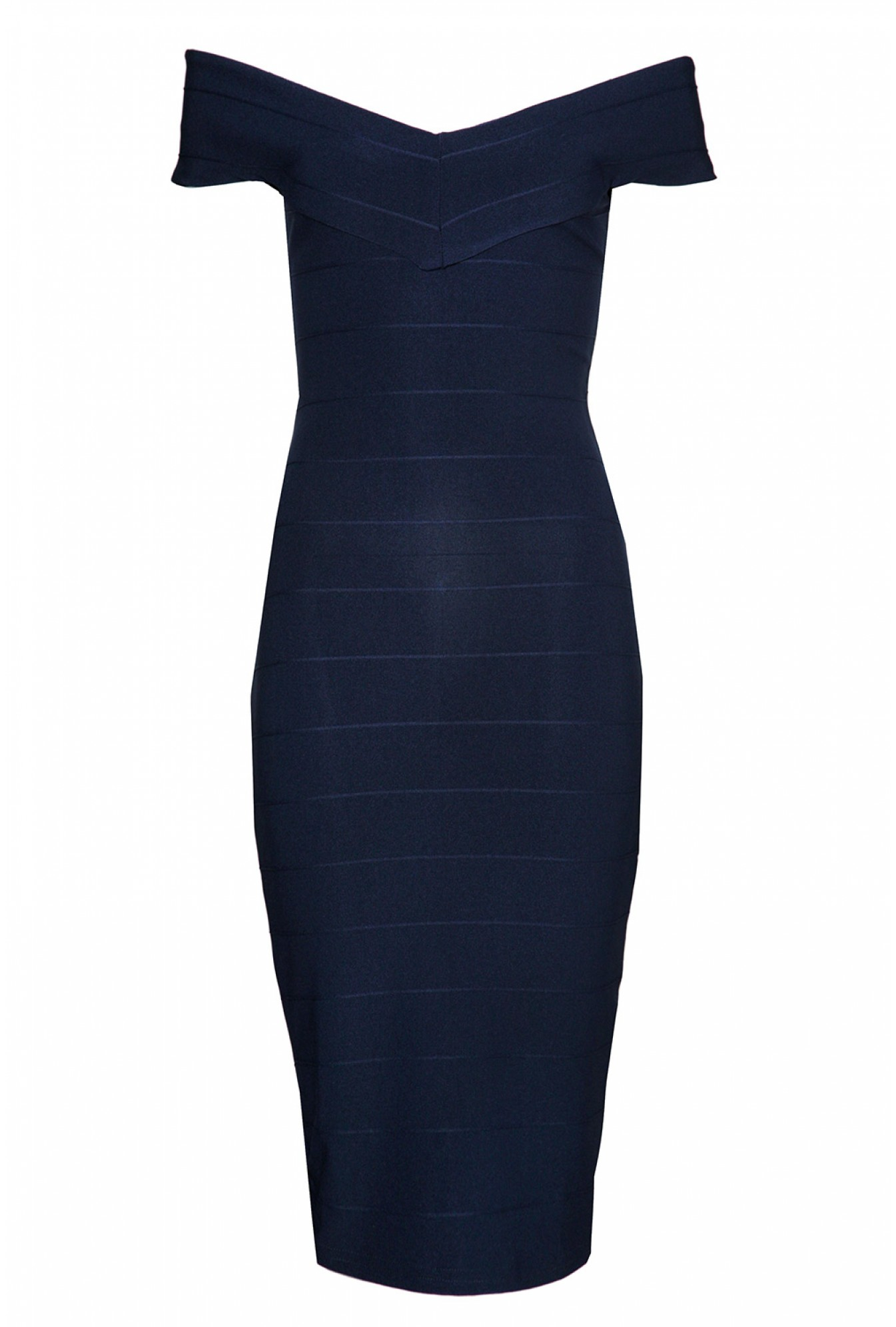642dbfbaf005 More Views. Ava off the Shoulder Bodycon Dress in Navy