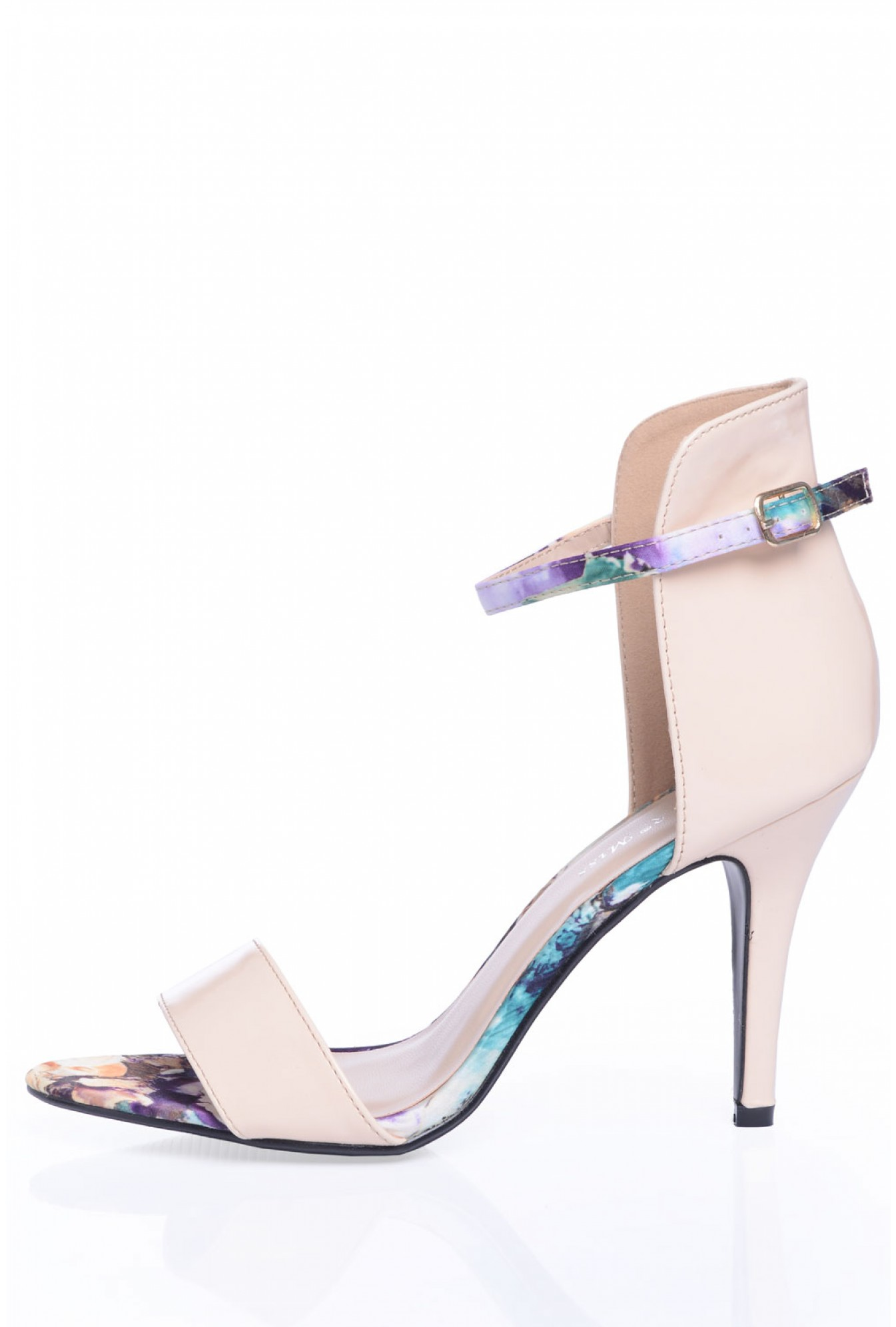 d19bc1622fe Cathy Floral Trim Sandals in Nude