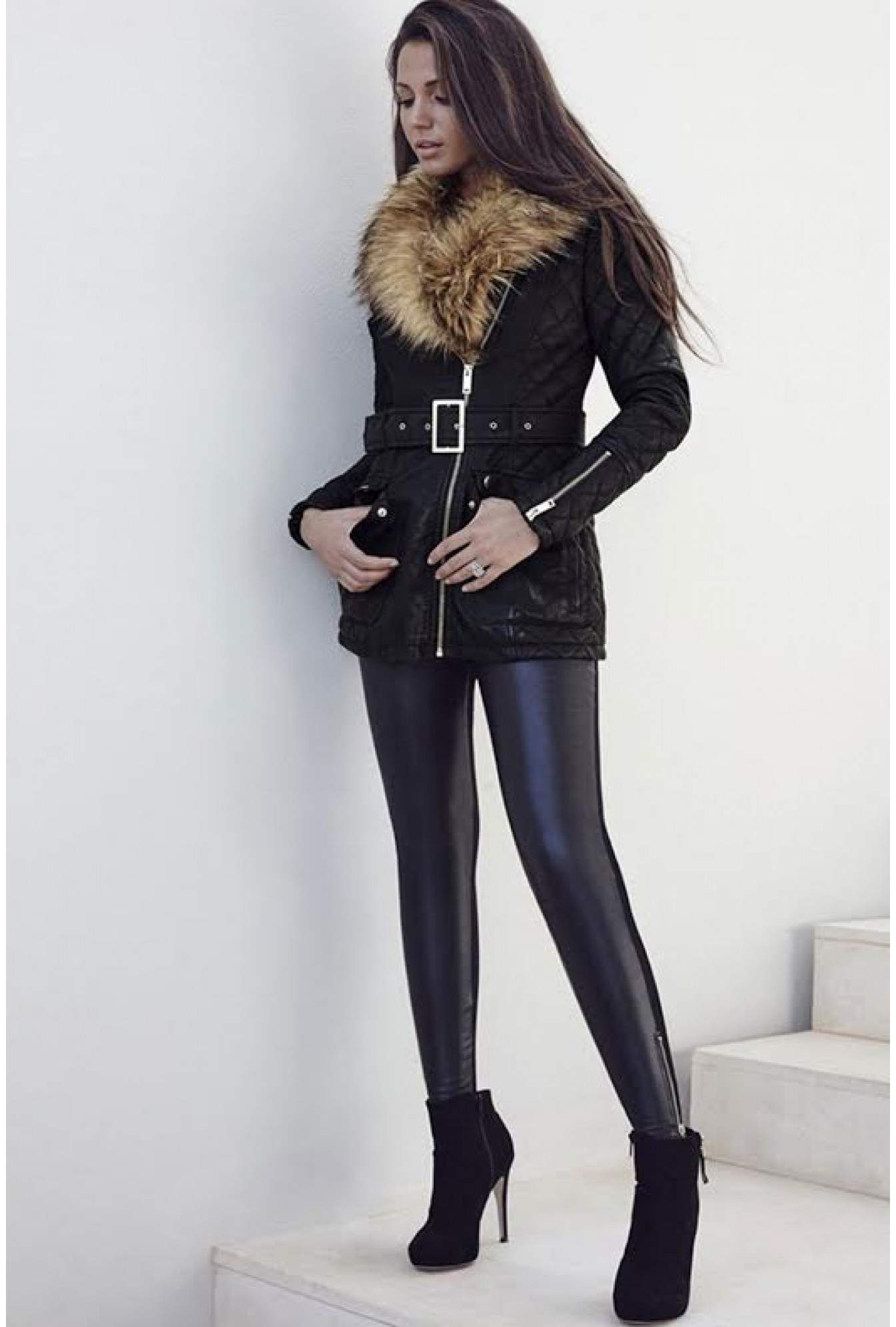 d11d8a565c31a Lipsy Michelle Keegan Side Zip Detail Faux Leather Leggings | iCLOTHING
