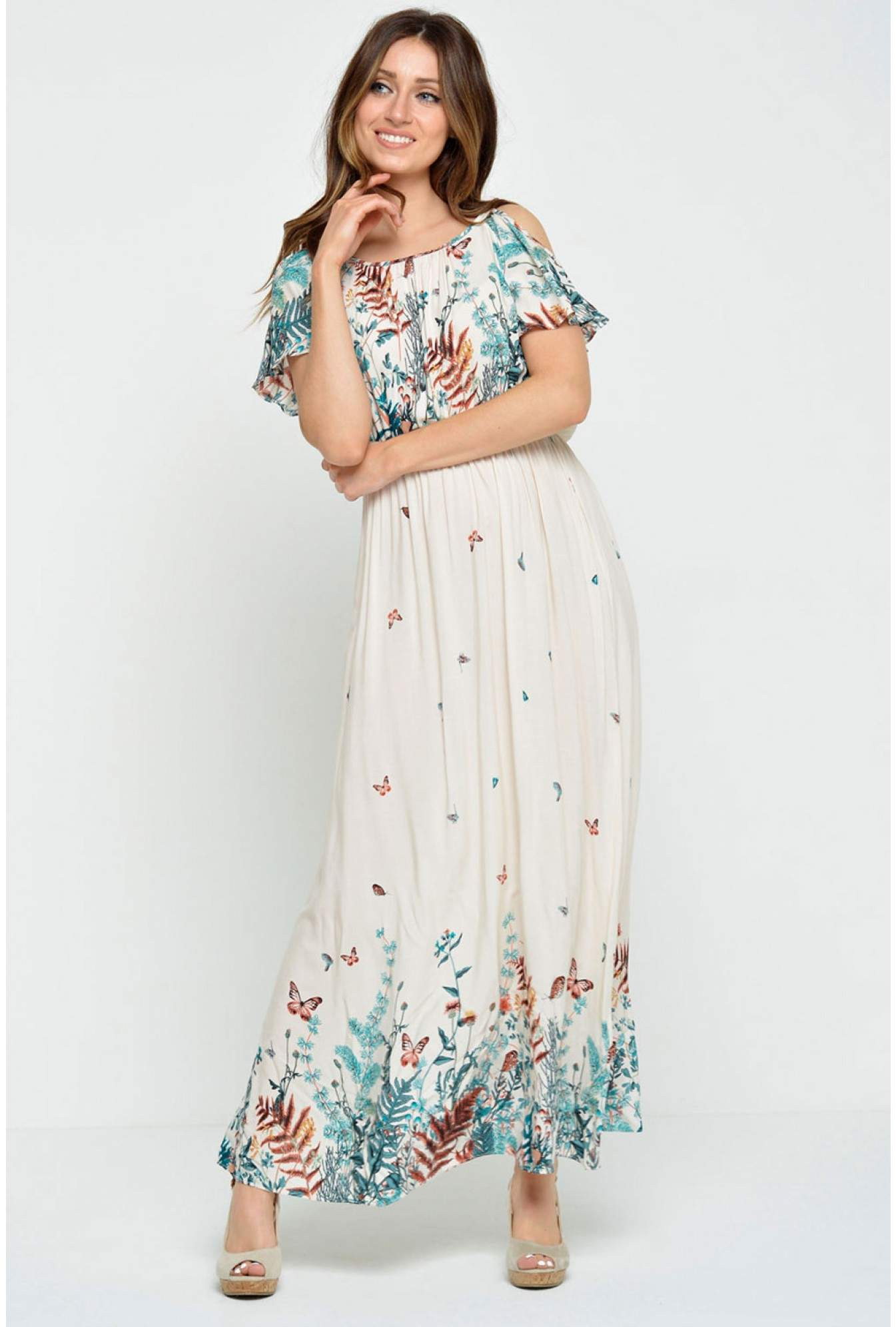 a1b94287733d More Views. Payton Cold Shoulder Maxi Dress in Cream