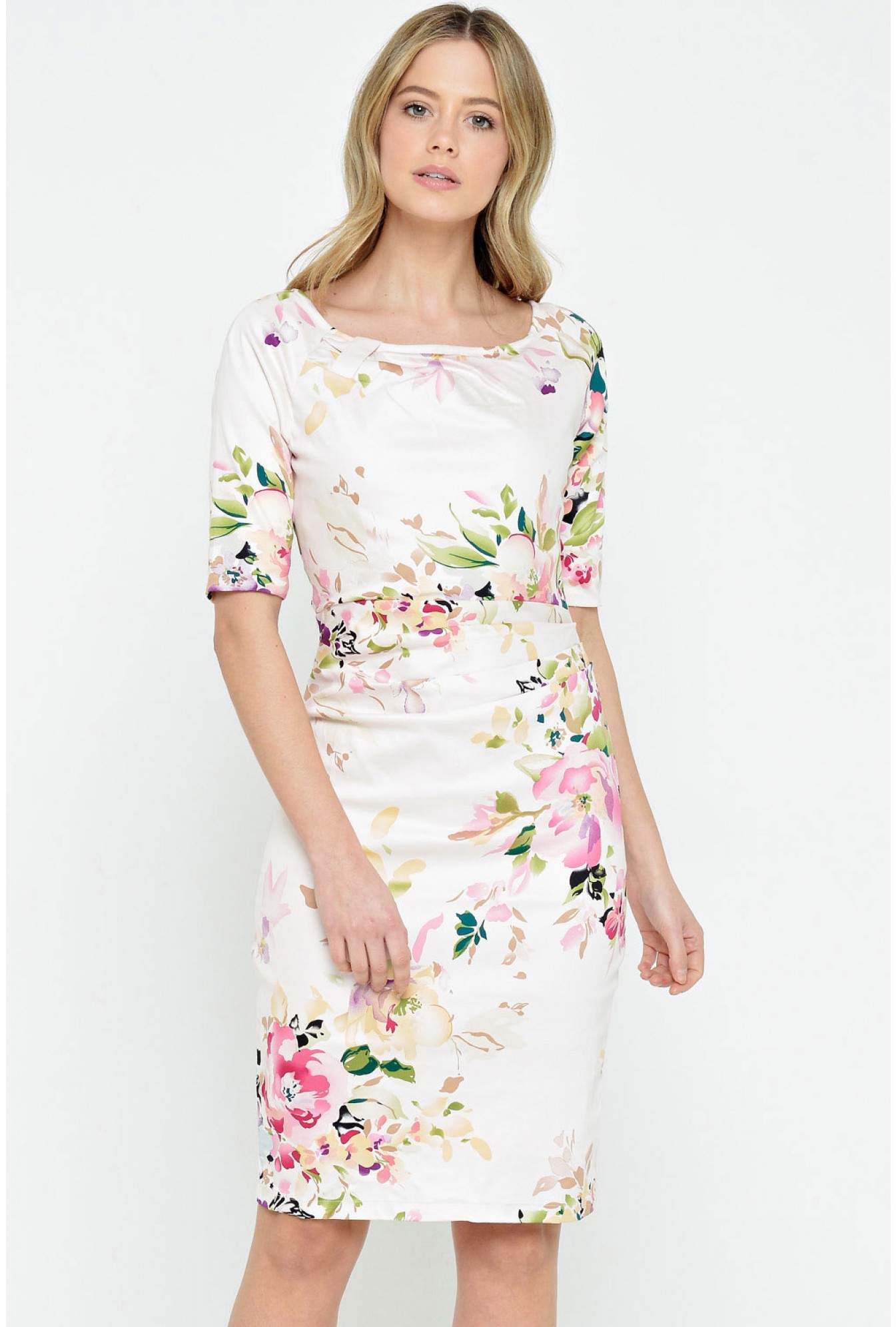 cf882a83b74 More Views. Tammy Floral Print Dress in Pale Pink