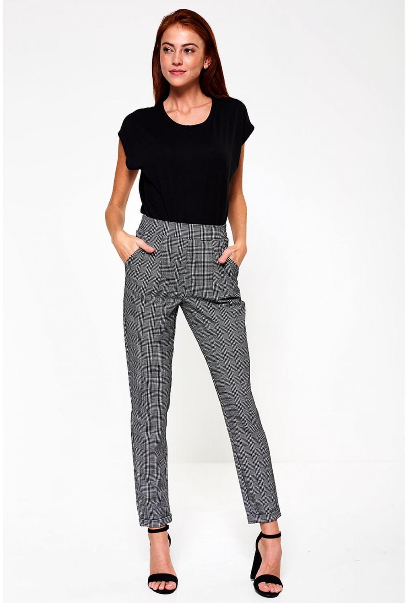 a22fc9b0983 Jacqueline De Yong Delicious Check Pant in Black