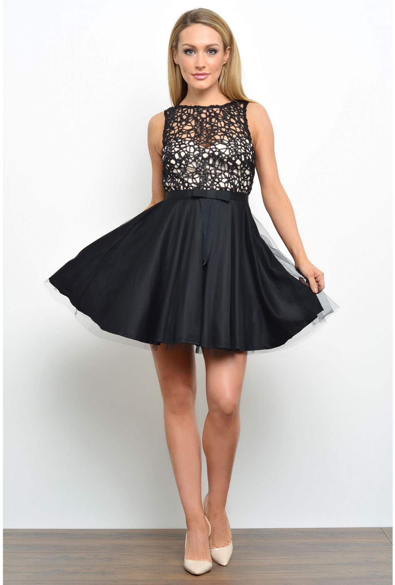 Lipsy Lipsy Lace Top Tutu Prom Dress Iclothing