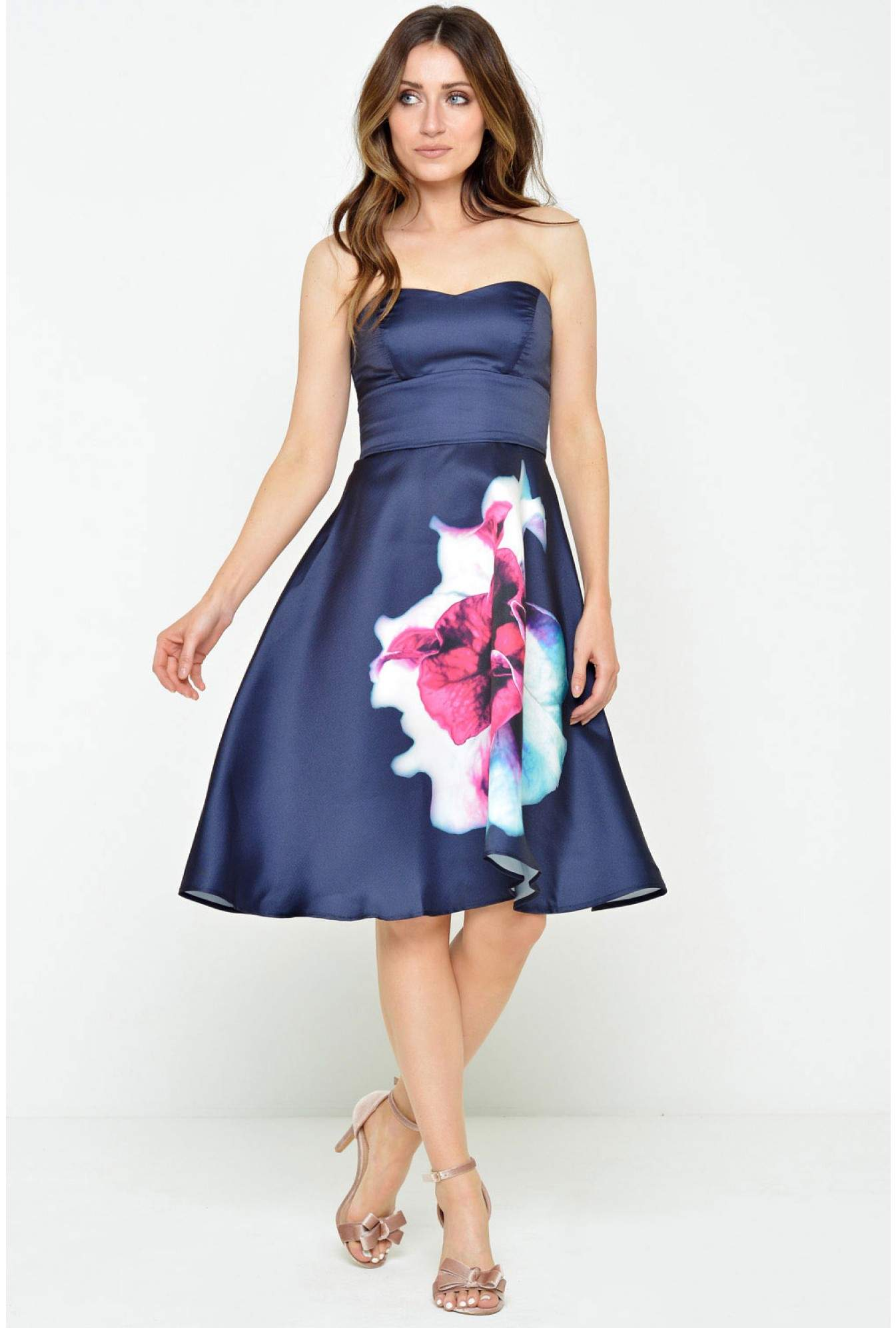 fde1321b82 More Views. Dakota Floral Print Dress in Navy
