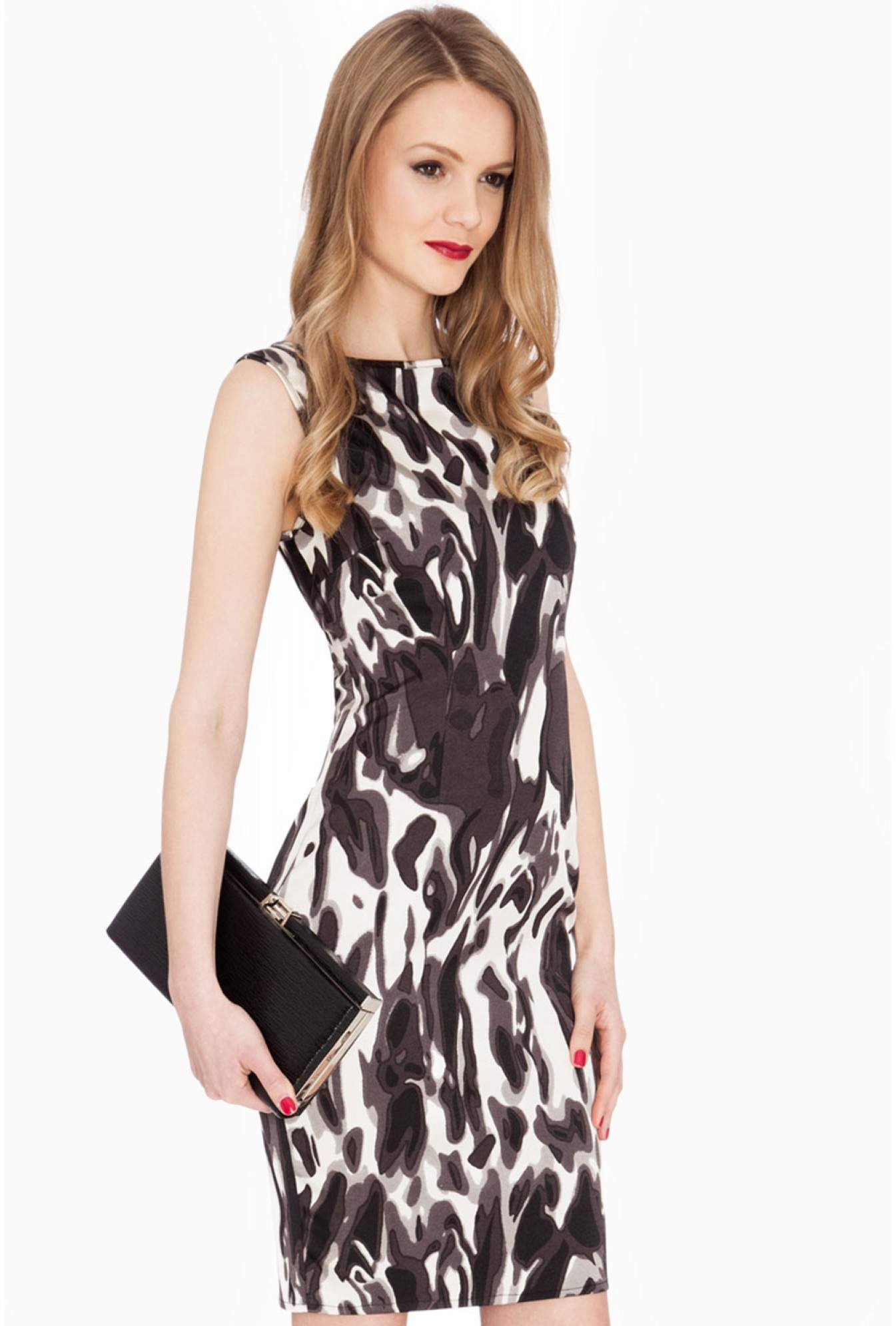 c17bf6b51bc5c More Views. Louisa Printed Sleeveless Midi Dress