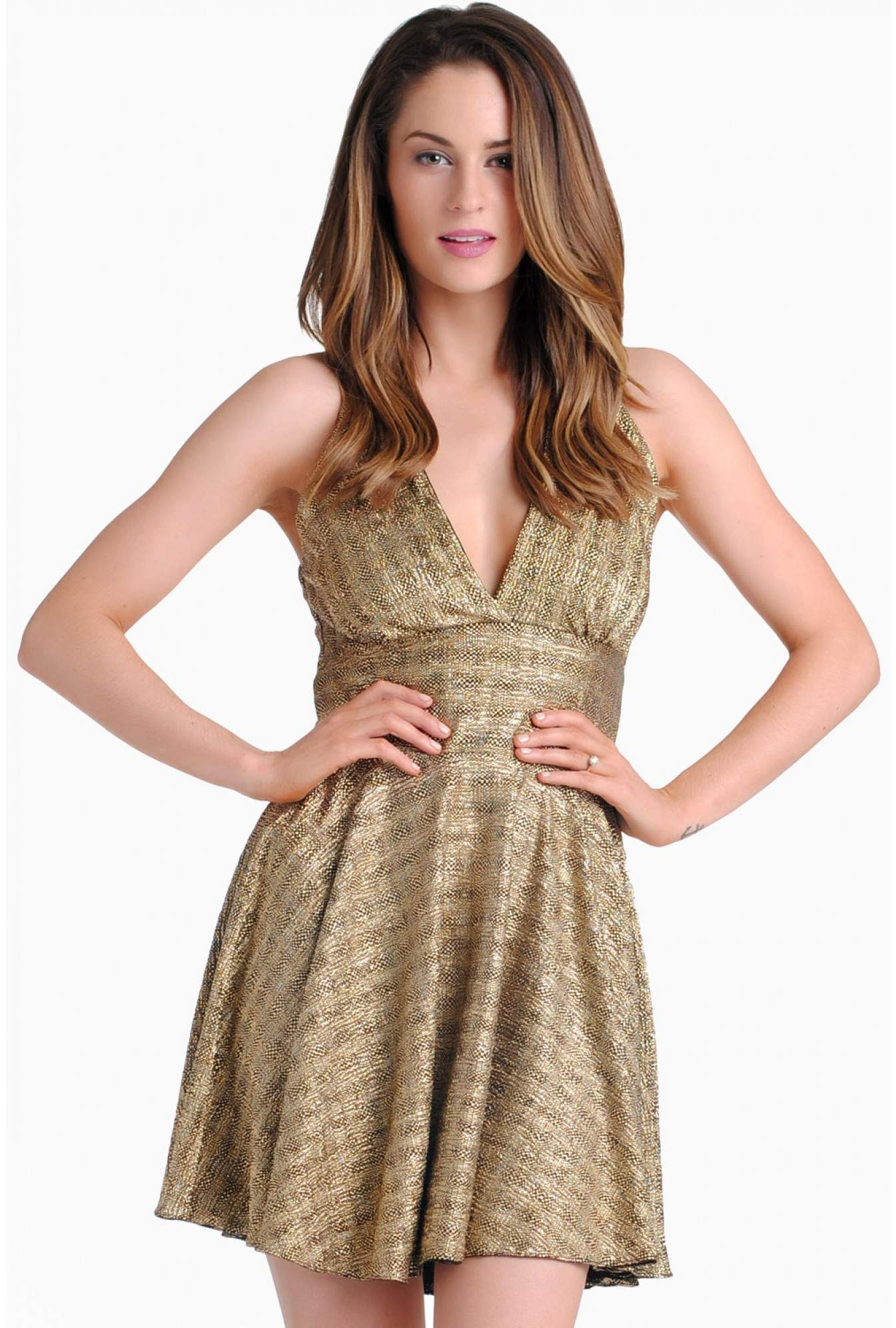 9ae991987fad More Views. Jenny Skater Dress in Gold