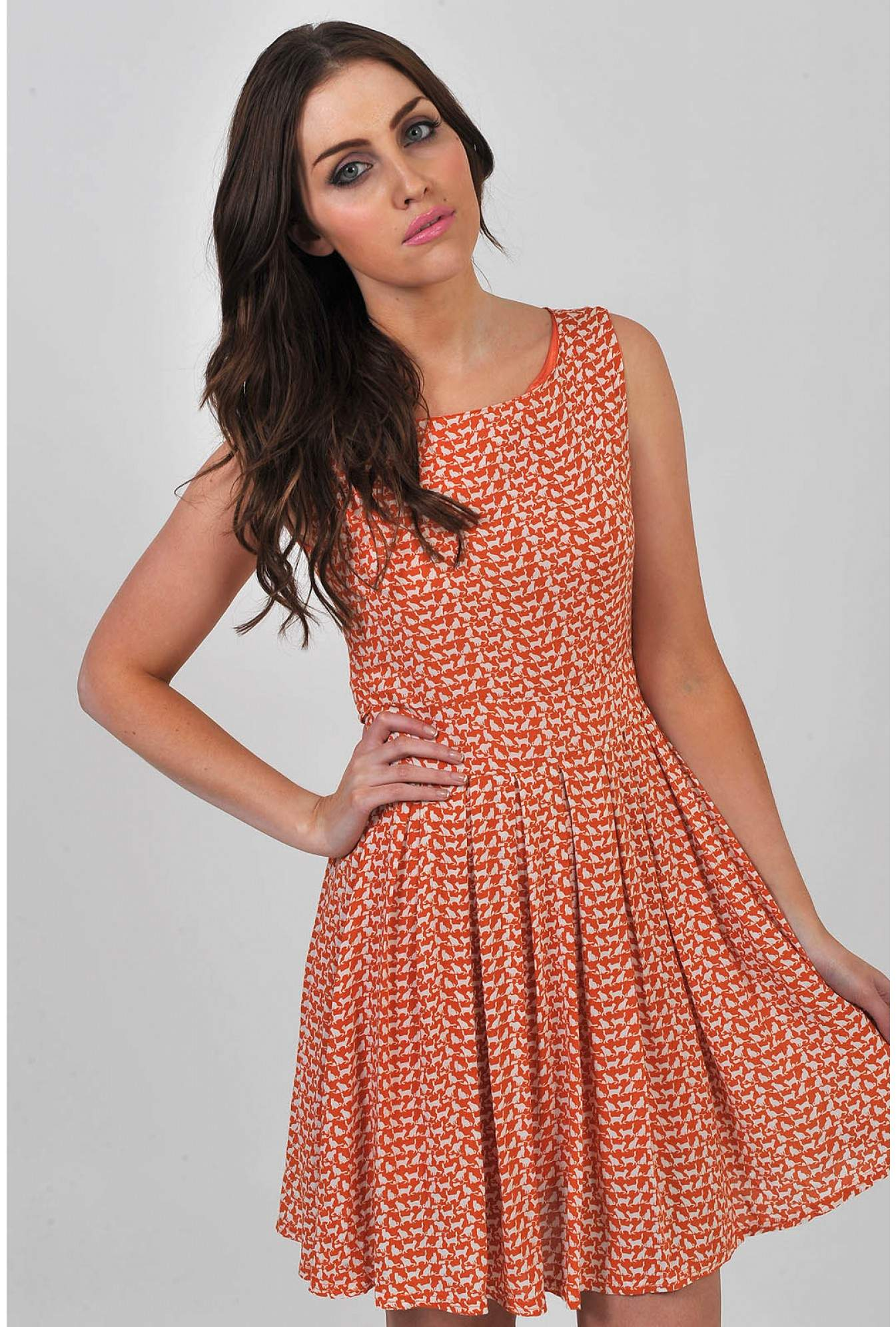 Ciara Animal Print Tea Dress  249b7e691