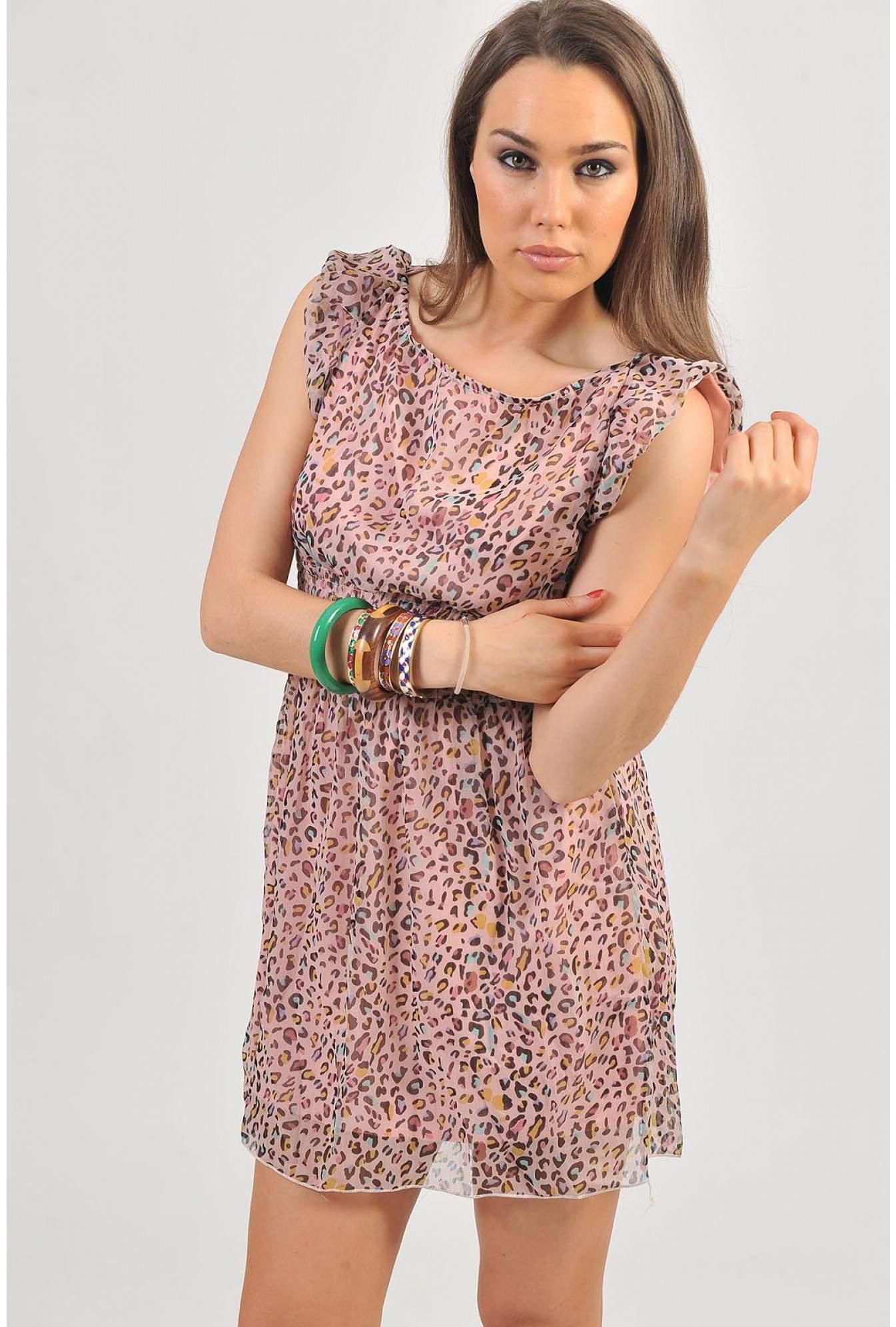 fd4b008f0f64 More Views. Donna Leopard Print Dress in Pink