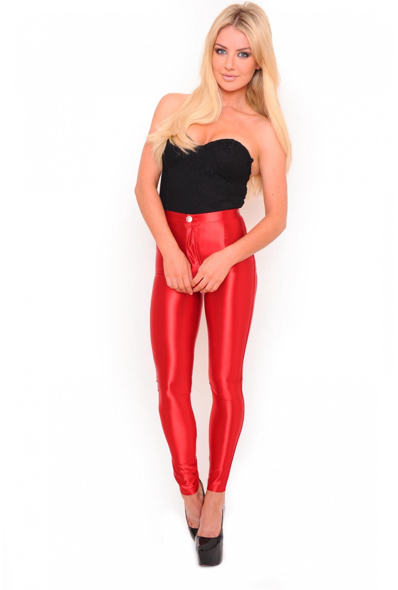 4a25ee877420fa More Views. Cindy High Waisted Disco Pants in Ravishing Red