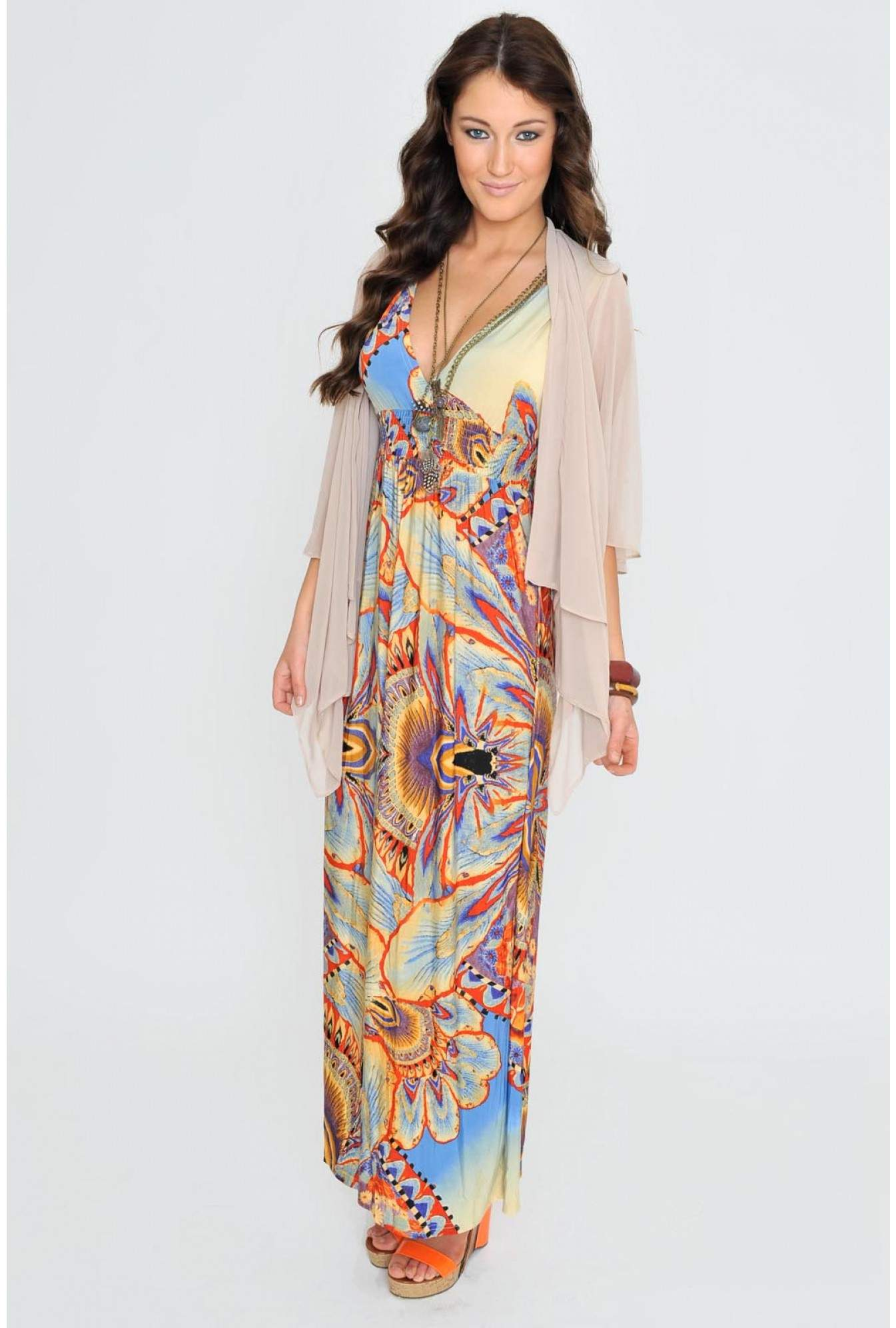 5007e984ac00 More Views. Diana Spring Floral Maxi Dress in Blue