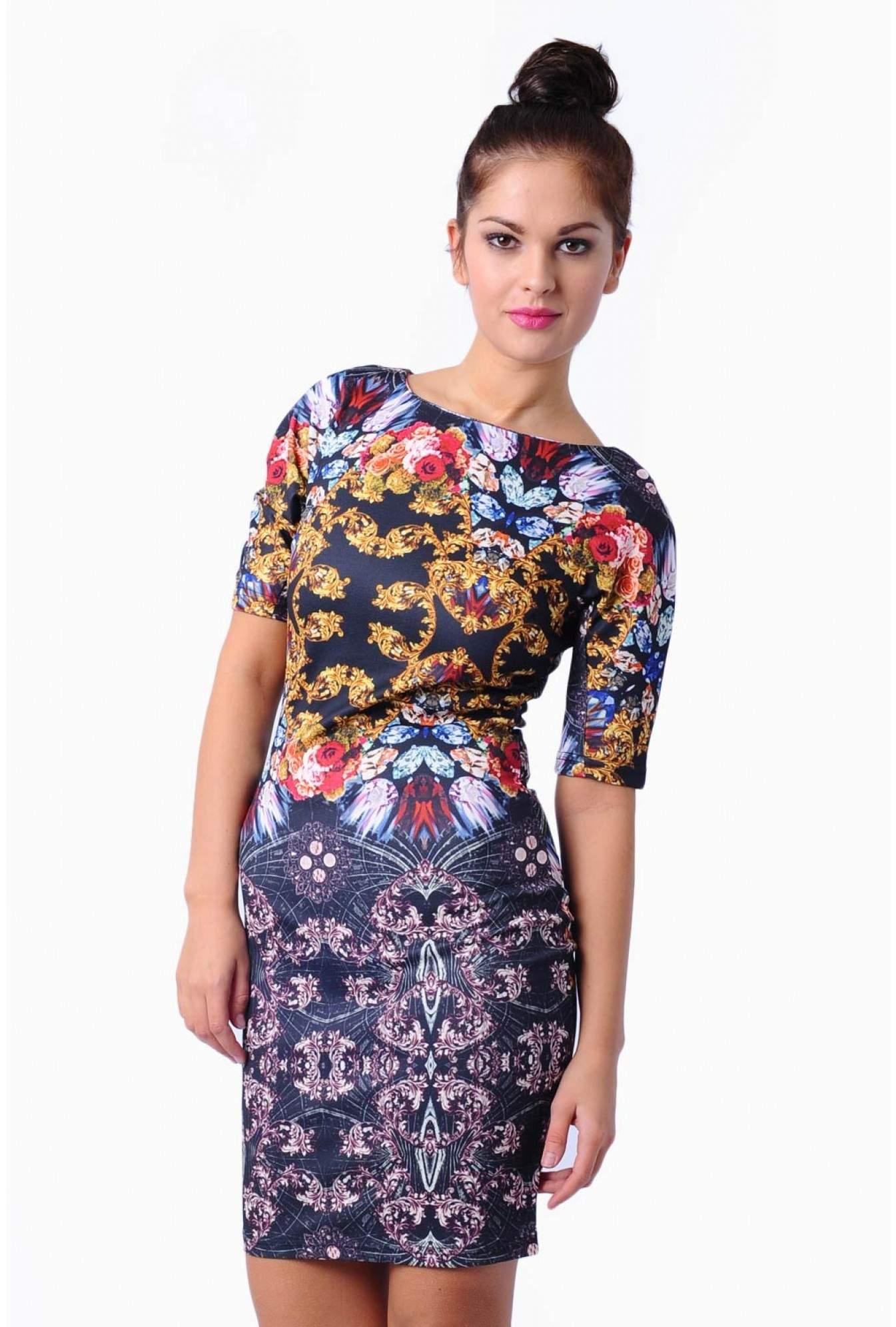 bee479d329d Ax Paris Black Floral Print Bodycon Dress - Gomes Weine AG