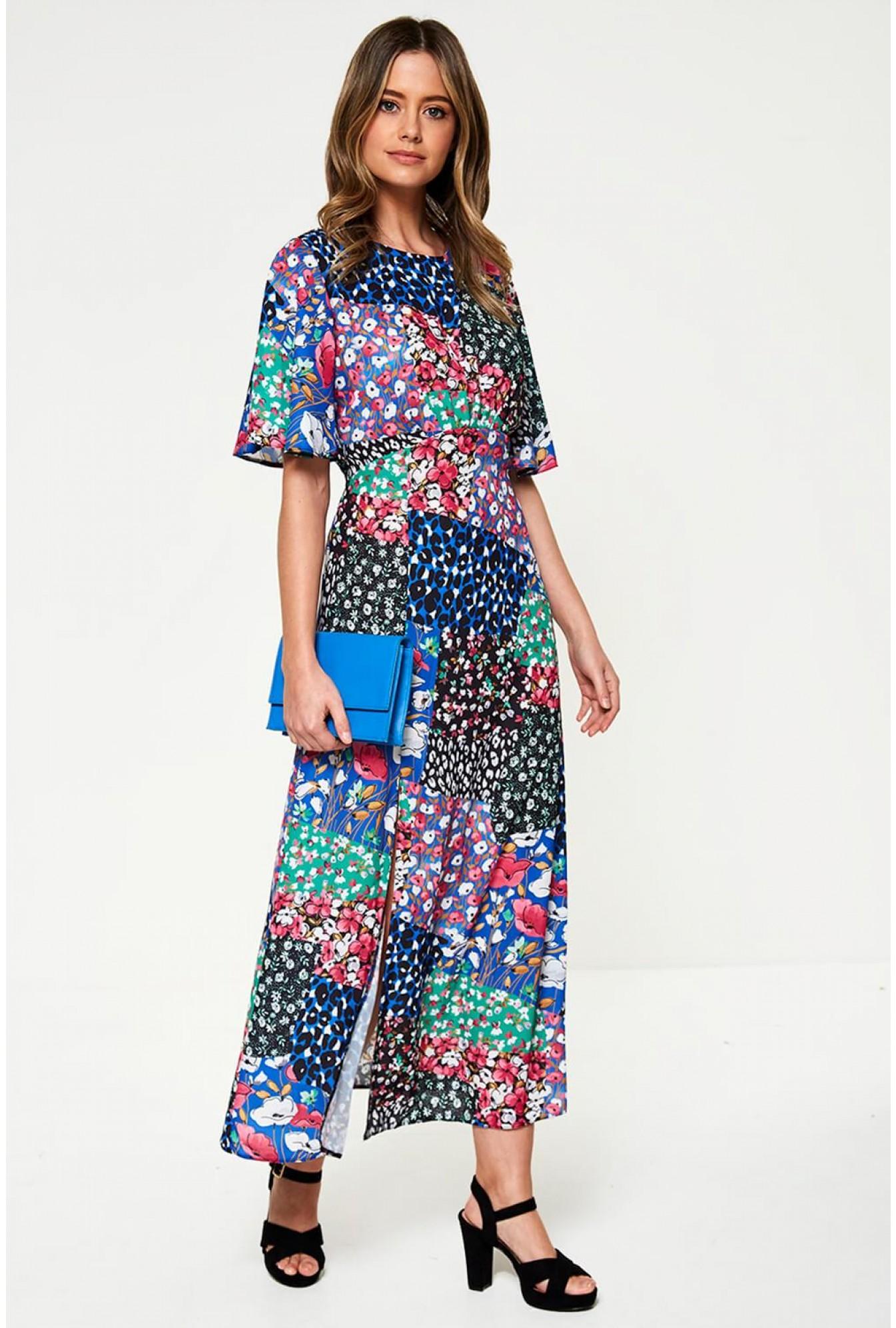 475328b64c More Views. Maxi Tea Dress in Patchwork Print