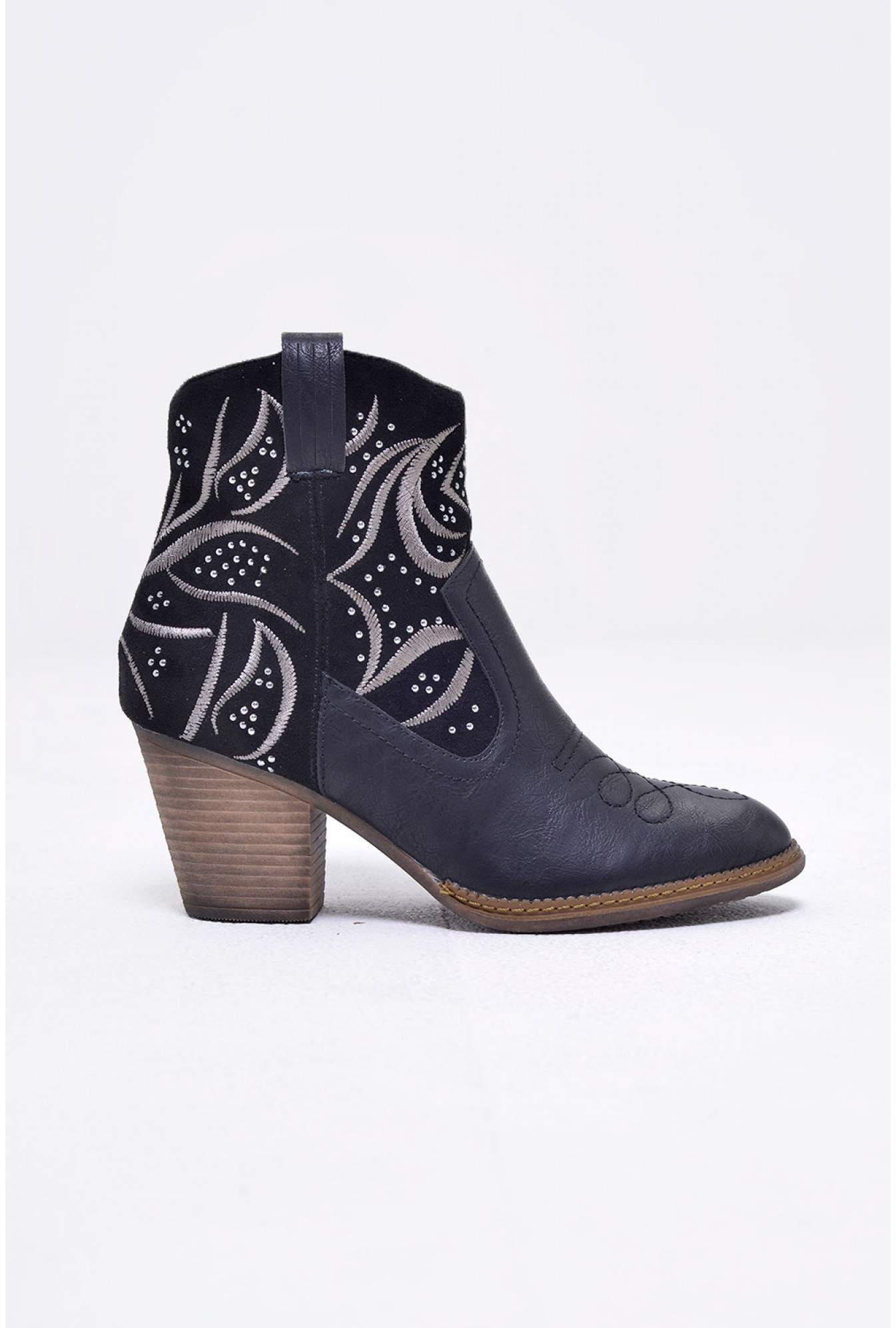 1ddaec219d8 Jessie Western Ankle Boots in Black