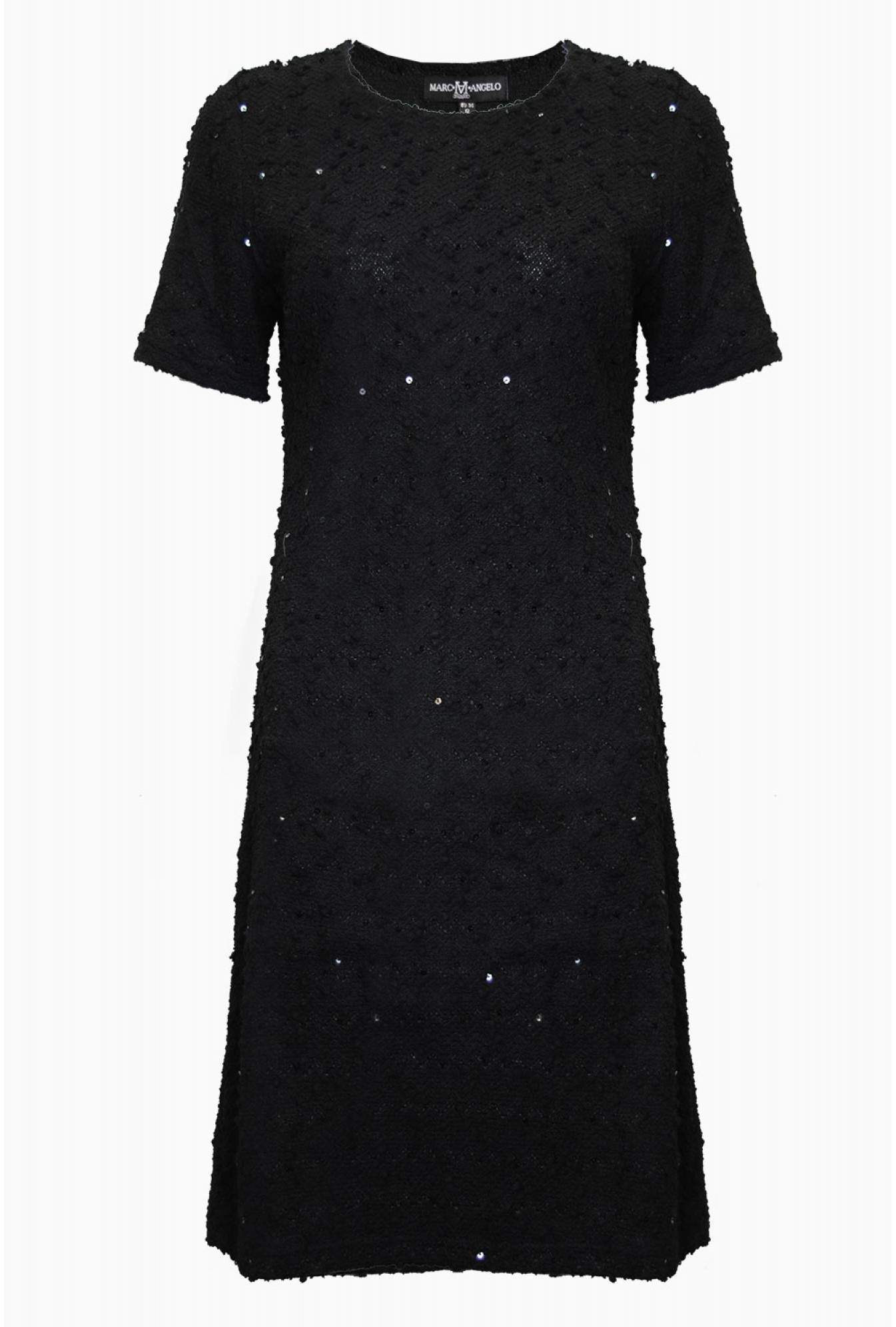 a3431e5cde3 Marc Angelo Aisling Boucle Tunic Dress in Black