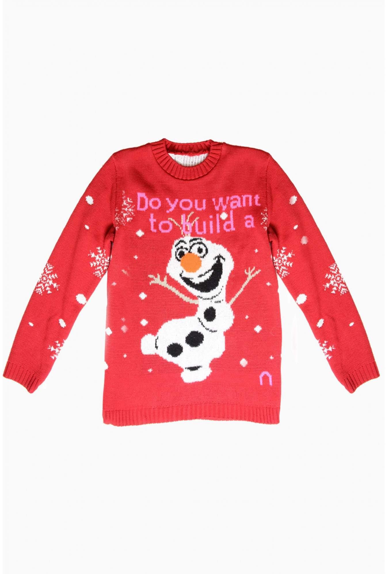USCO Olaf Kids Christmas Jumper in Red | iCLOTHING