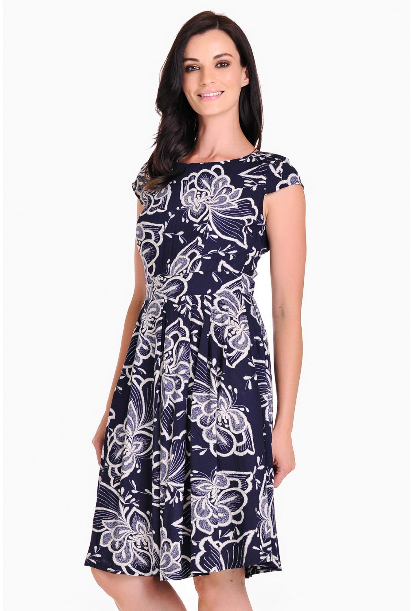 77388a4b0a7df Stella Paloma Flower Print Midi Dress | iCLOTHING