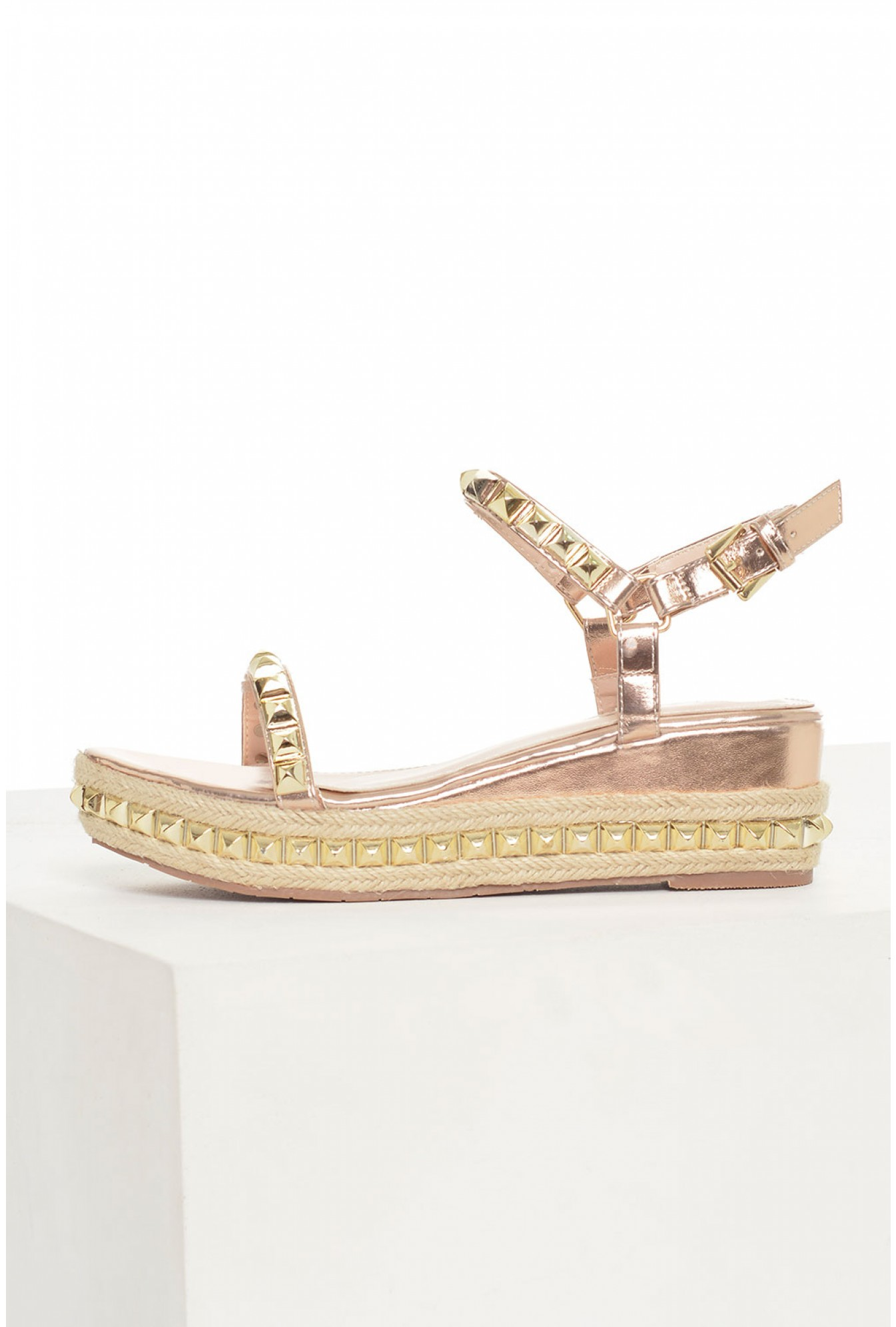 b13e5354e606 More Views. Kylie Stud Wedge Espadrilles in Rose Gold