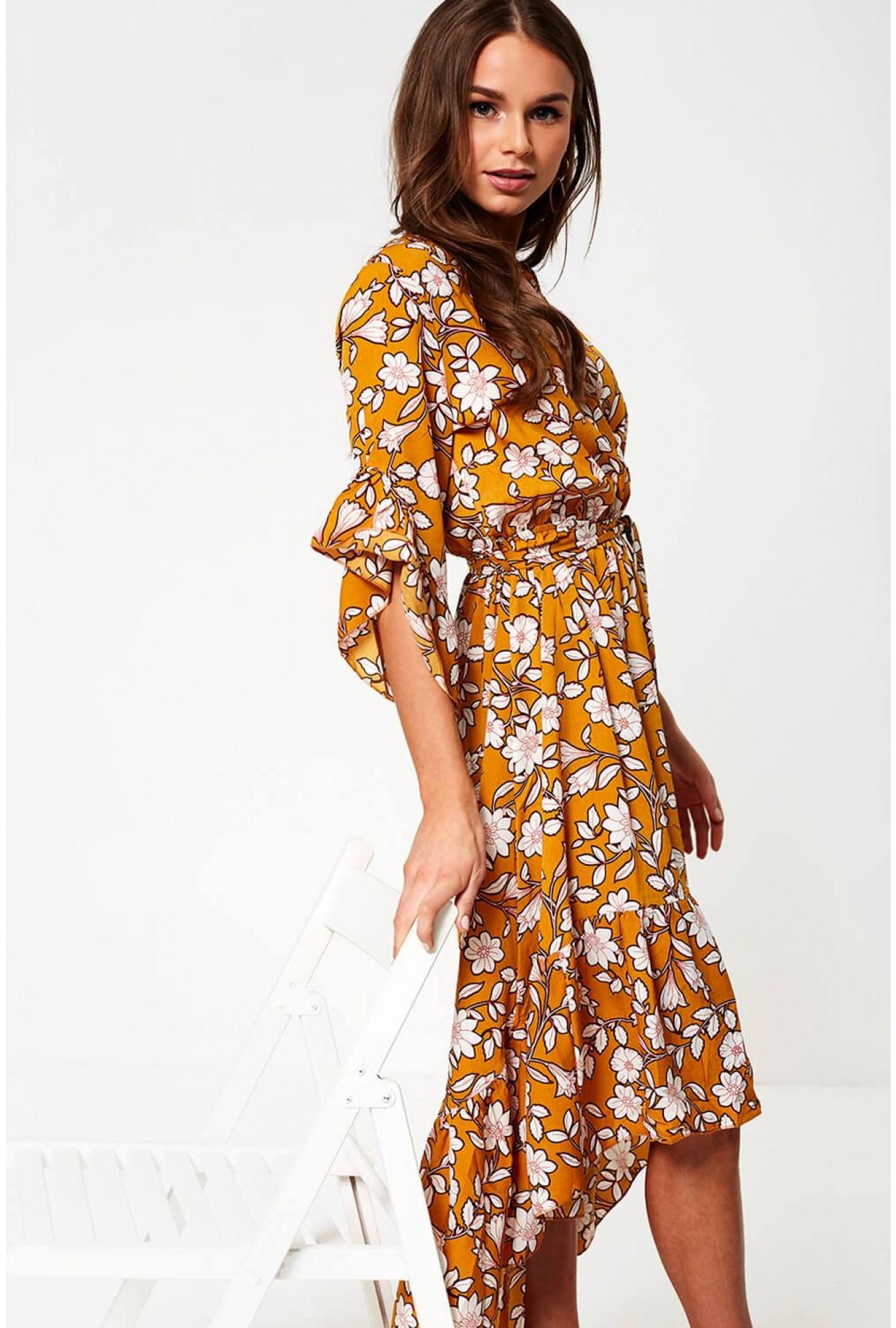 1f8467924c43 More Views. Bonita Floral Print Midi Dress ...