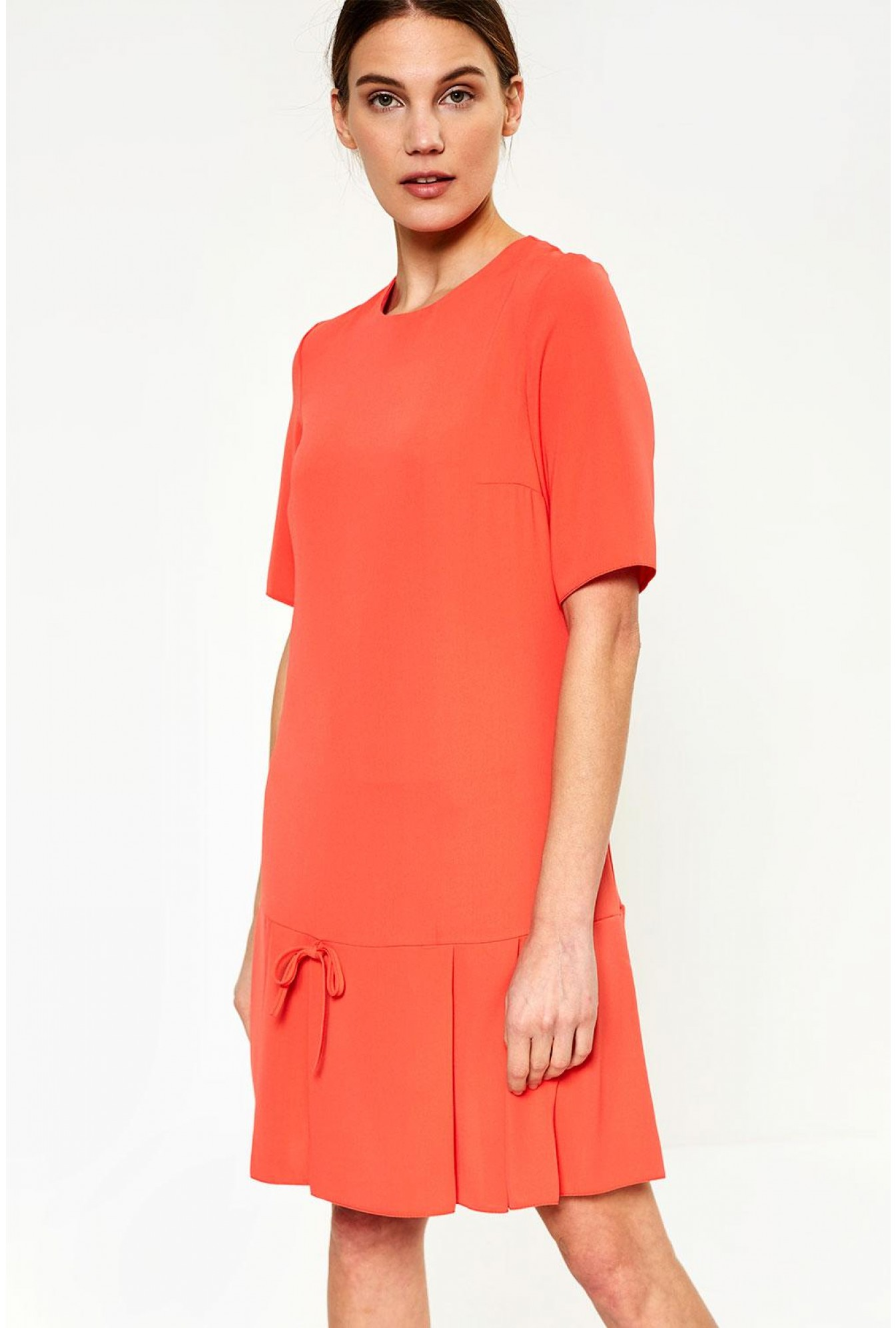 4b06d6476a739 Ad Lib Florence Frill Hem Dress in Coral | iCLOTHING