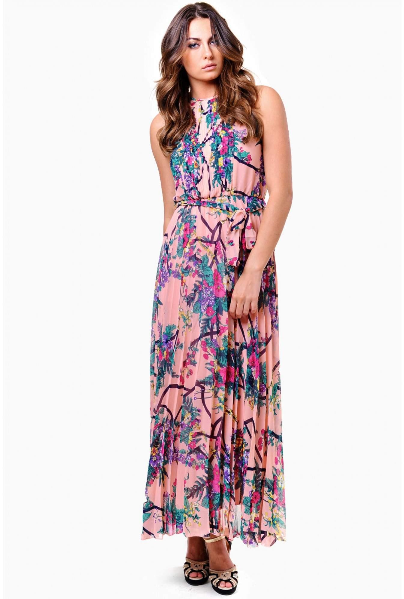 Aqua Womens B//W Floral Print Cut-Out Sleeveless Party Dress S BHFO 4491