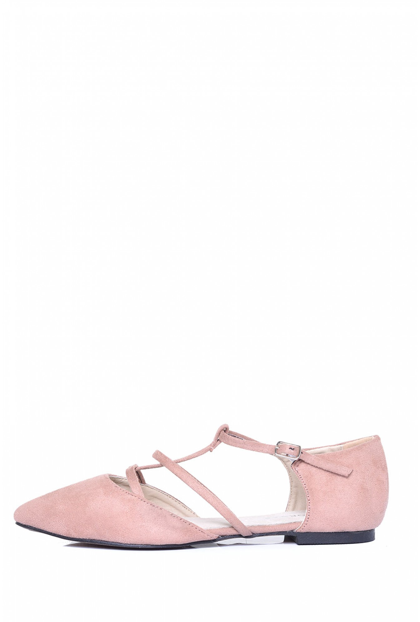 4b840bba96e7 More Views. Bobbi Pointed Lace Up Flats in Pink Suede. Glamorous
