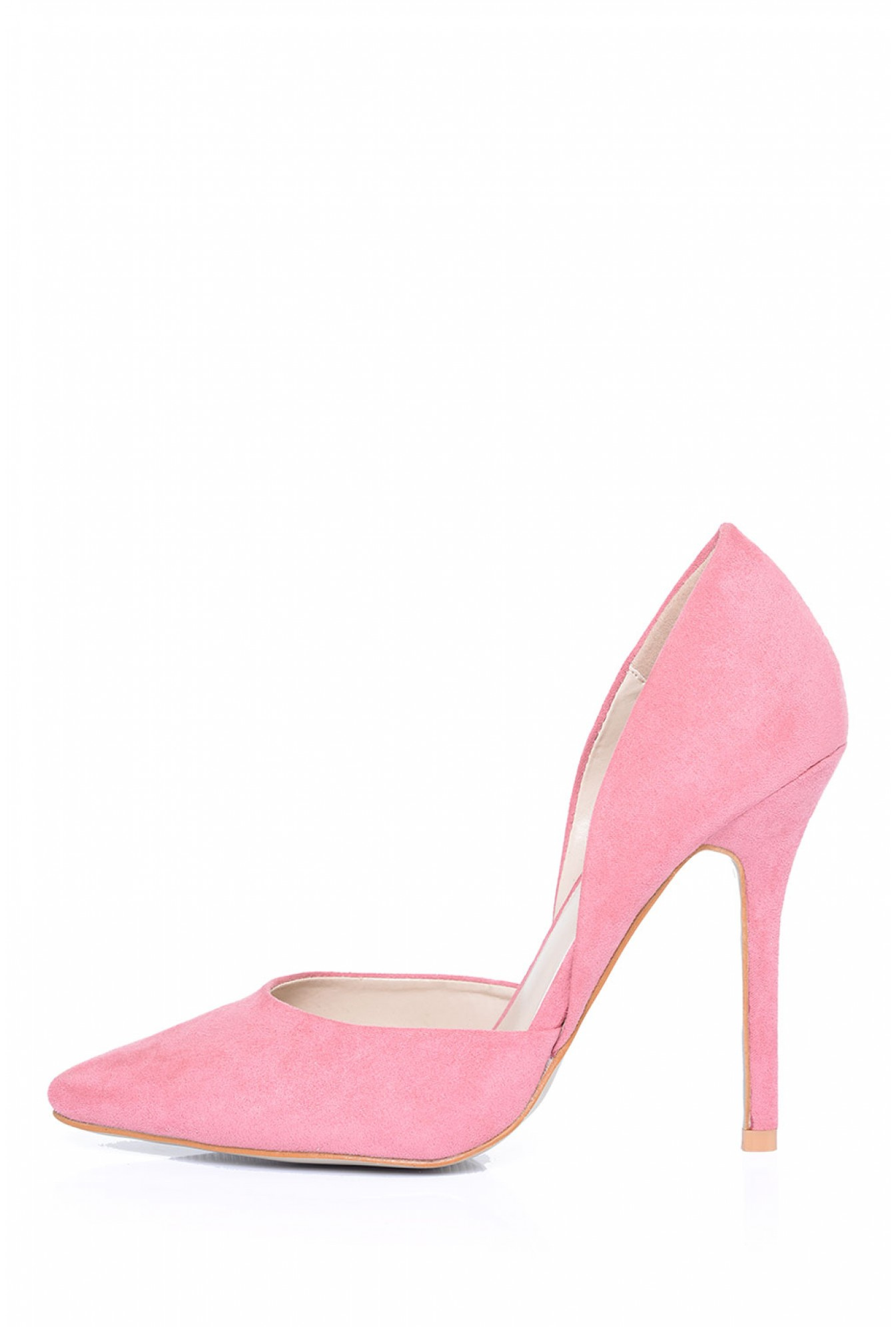 0b7e47d67135 More Views. Lela Pointed Court Shoe in Pink Suede. Glamorous