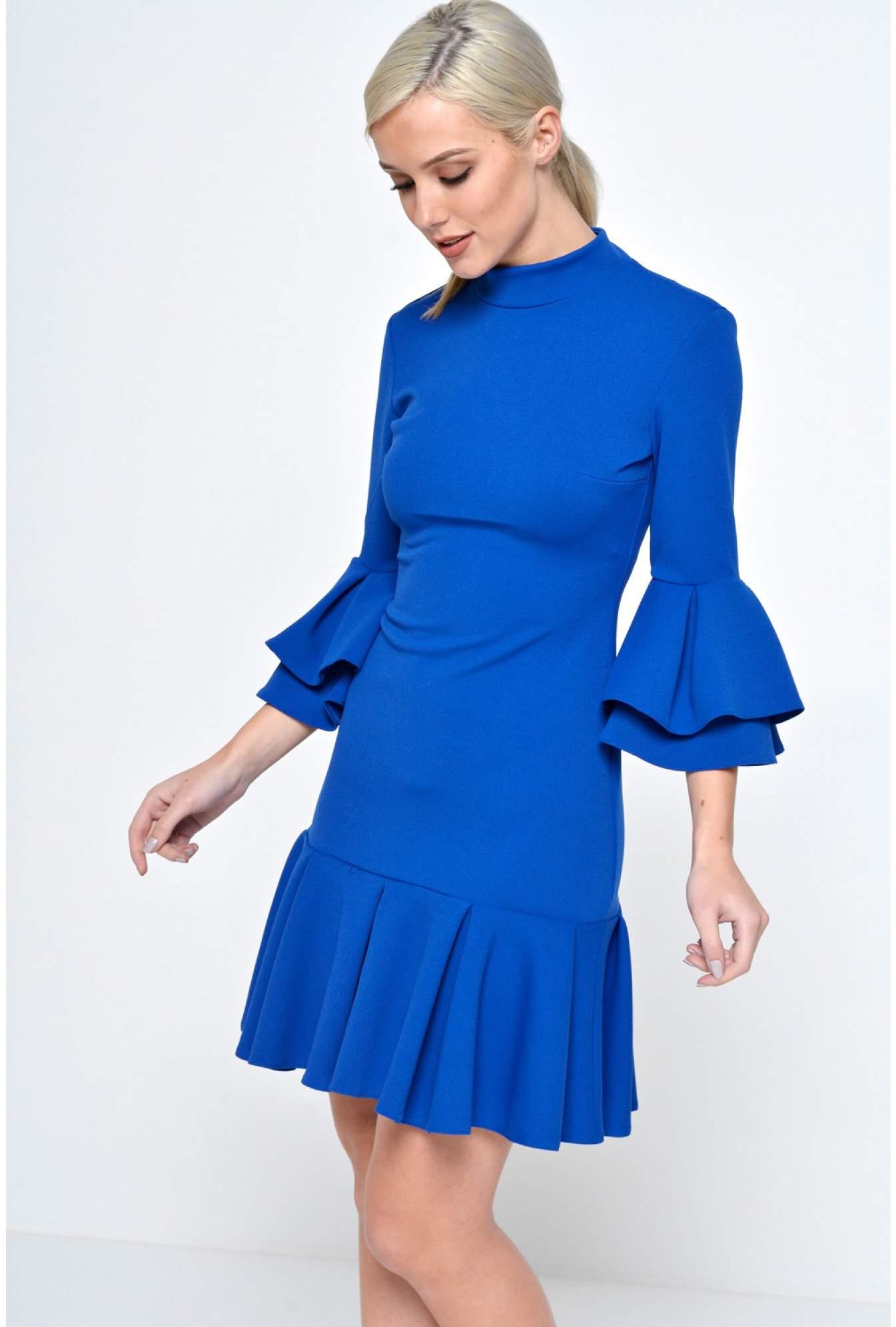 db7d4a9610b Ad Lib Lonnie Frill Sleeve Dress in Blue