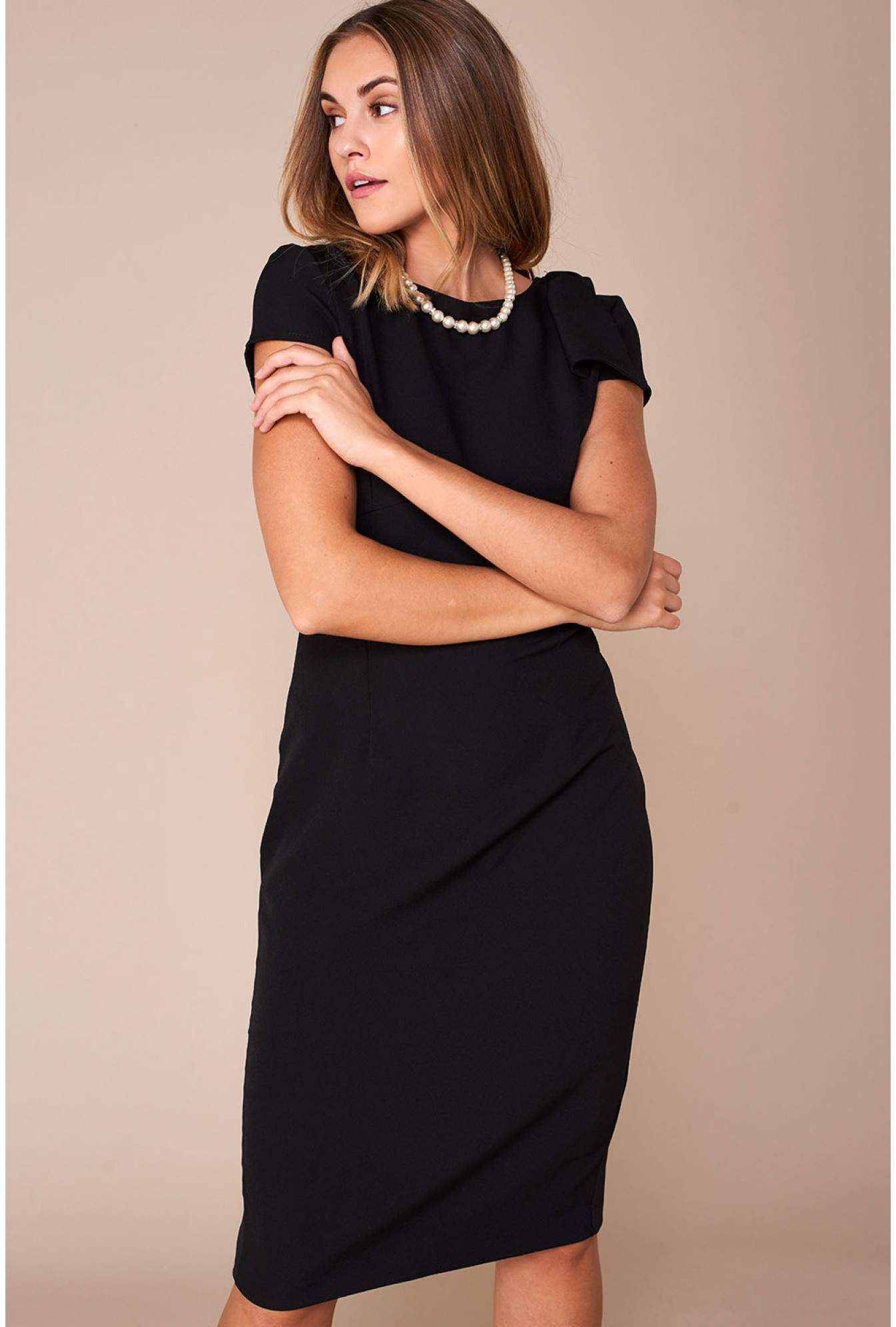fbe34bd3d176 Ad Lib Levi Occasion Midi Dress in Black   iCLOTHING